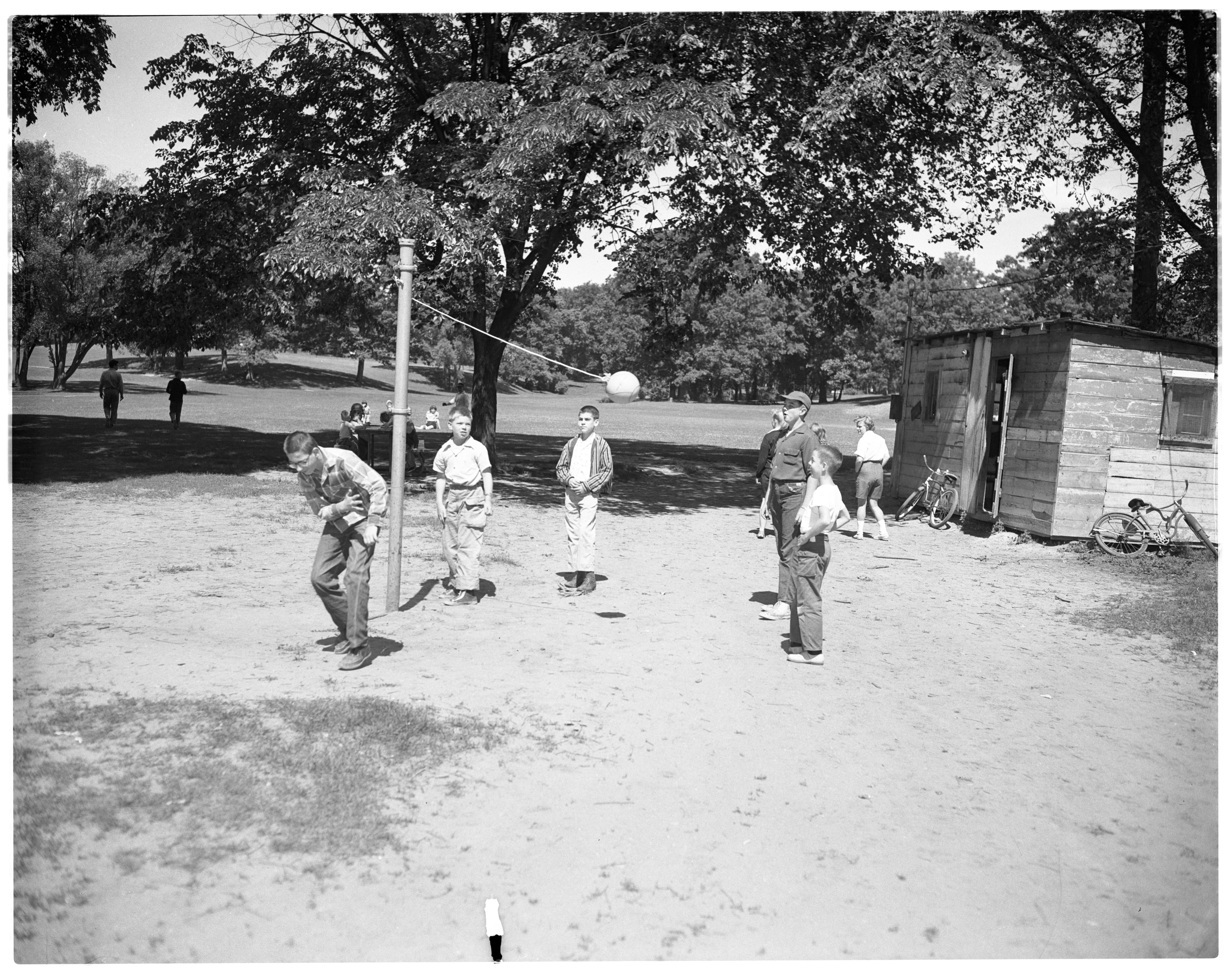 Tetherball in West Park image