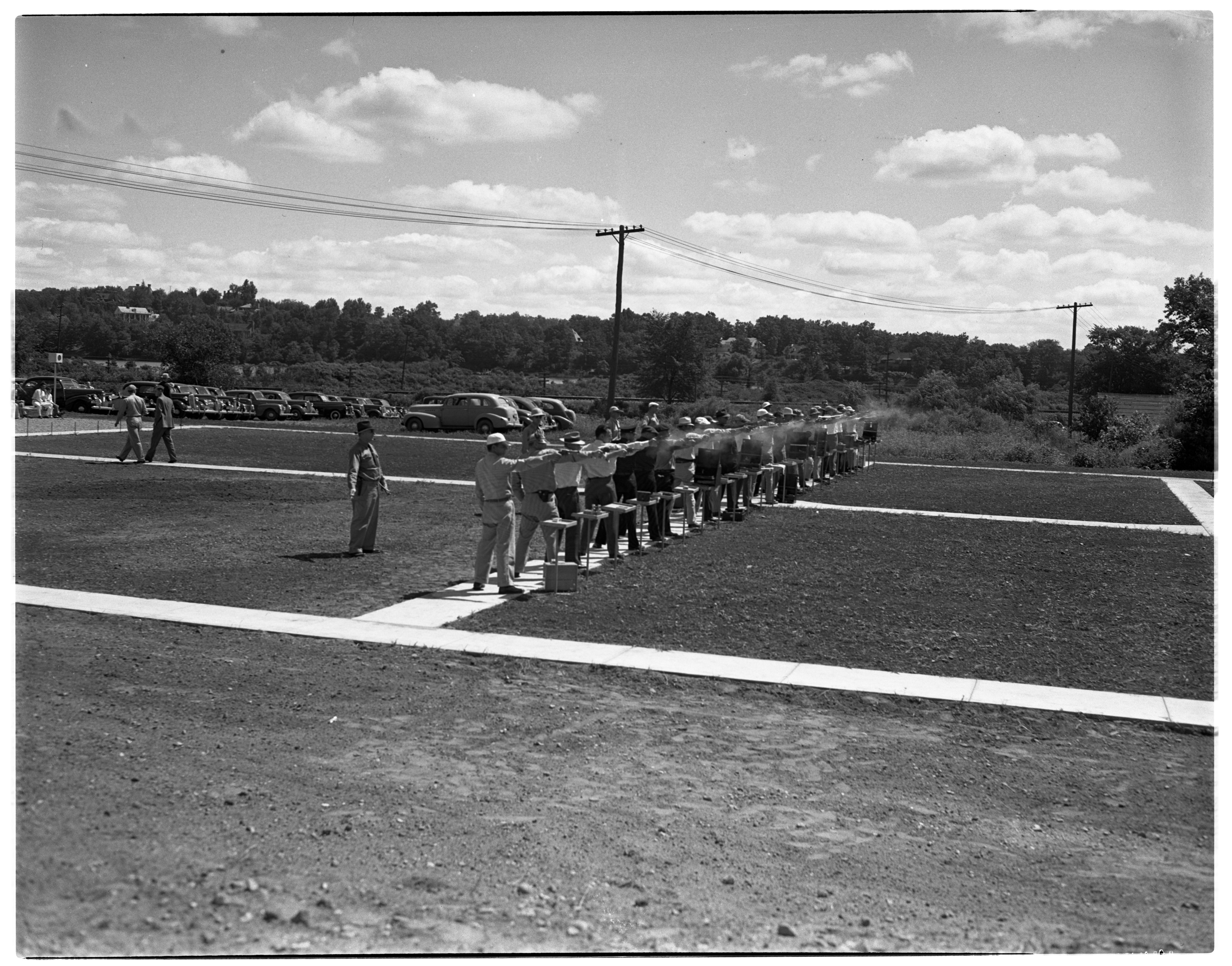 Firing Line At The Ann Arbor Police Department's Invitational Pistol Match, July 1941 image