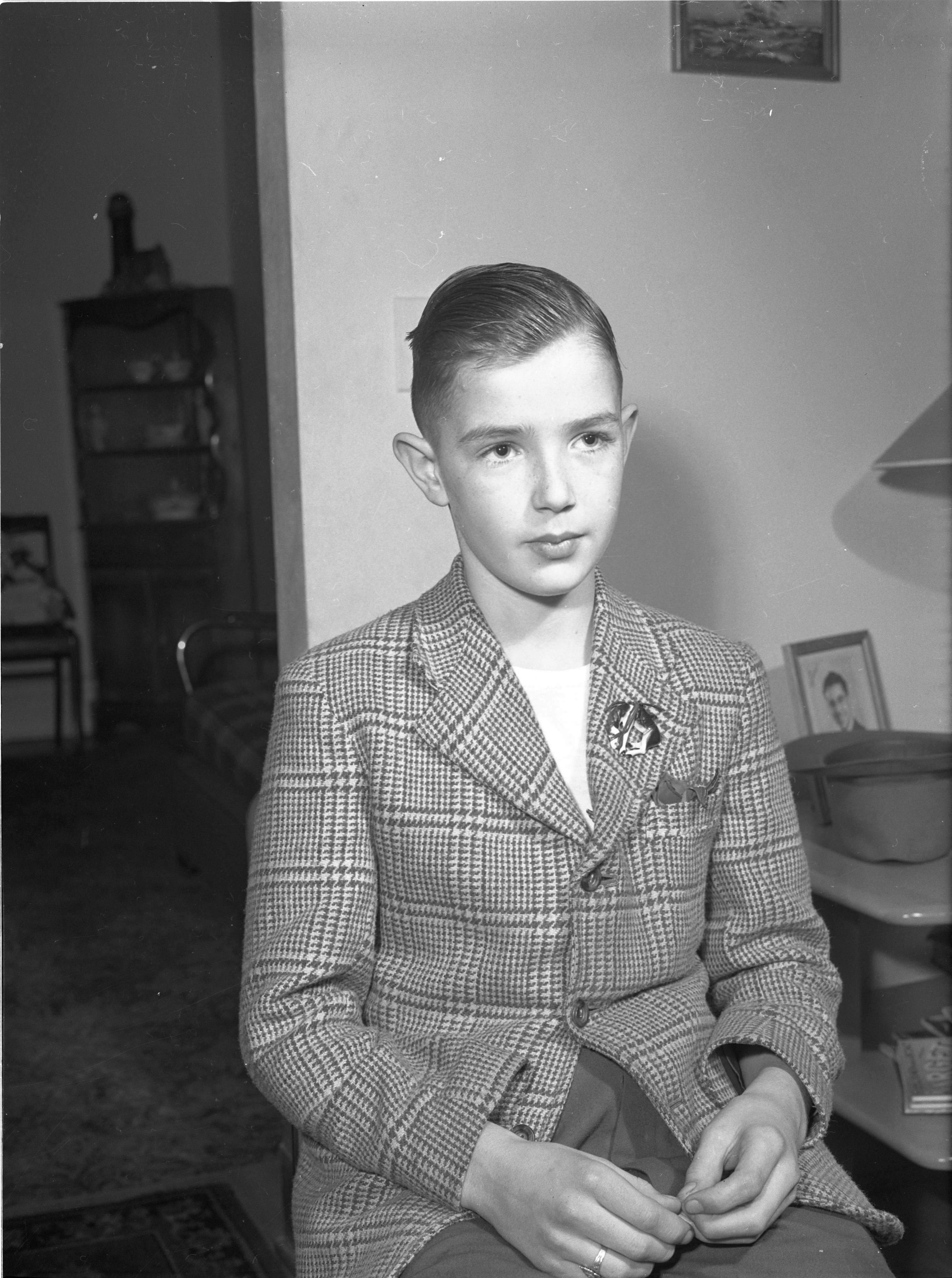 Jack Wall, 11, Admits Holding Gun Which Killed Barry Rothstein, November 1943 image