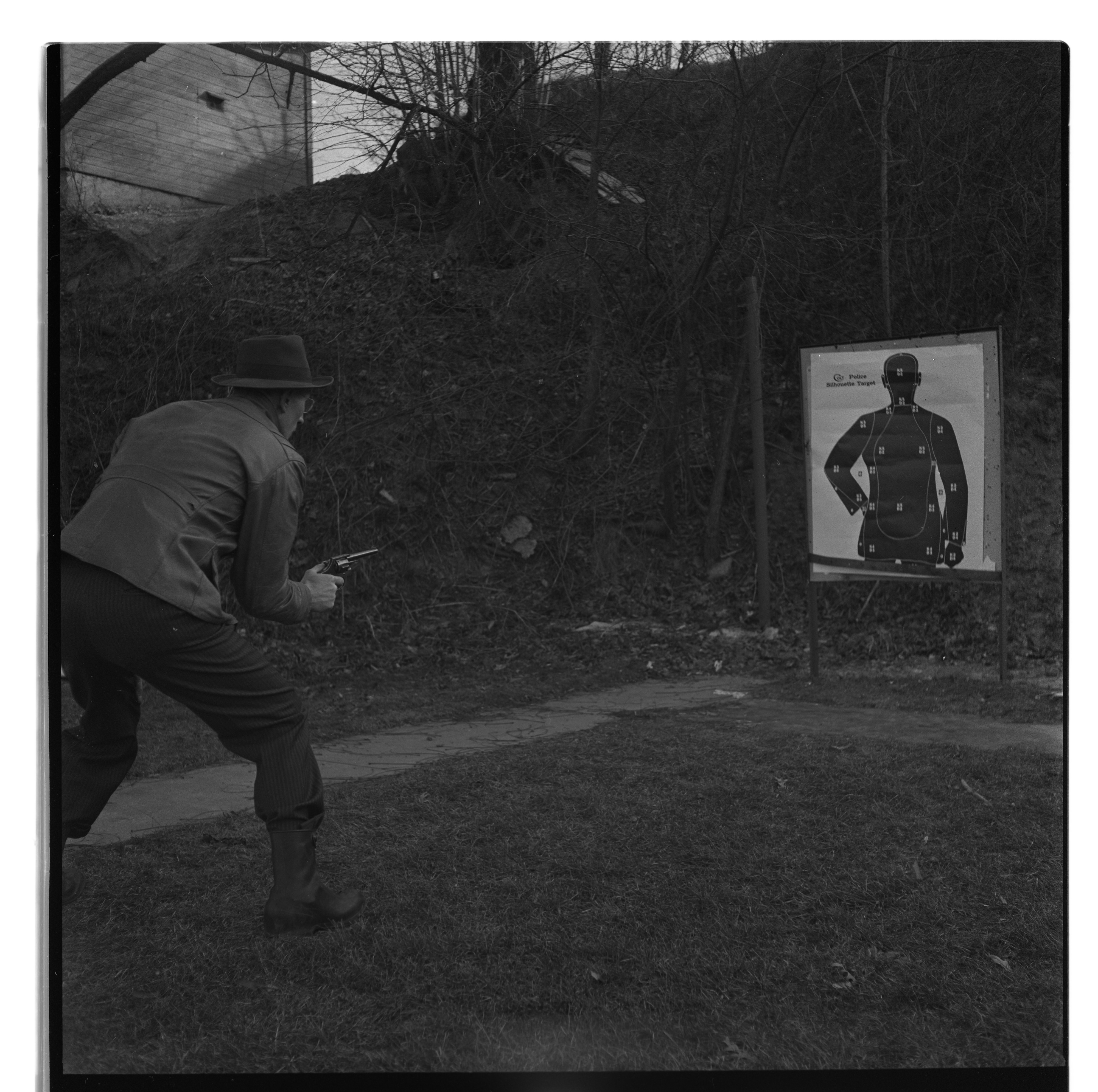 Ann Arbor Police In Target Practice At  Shooting Range, January 1950 image