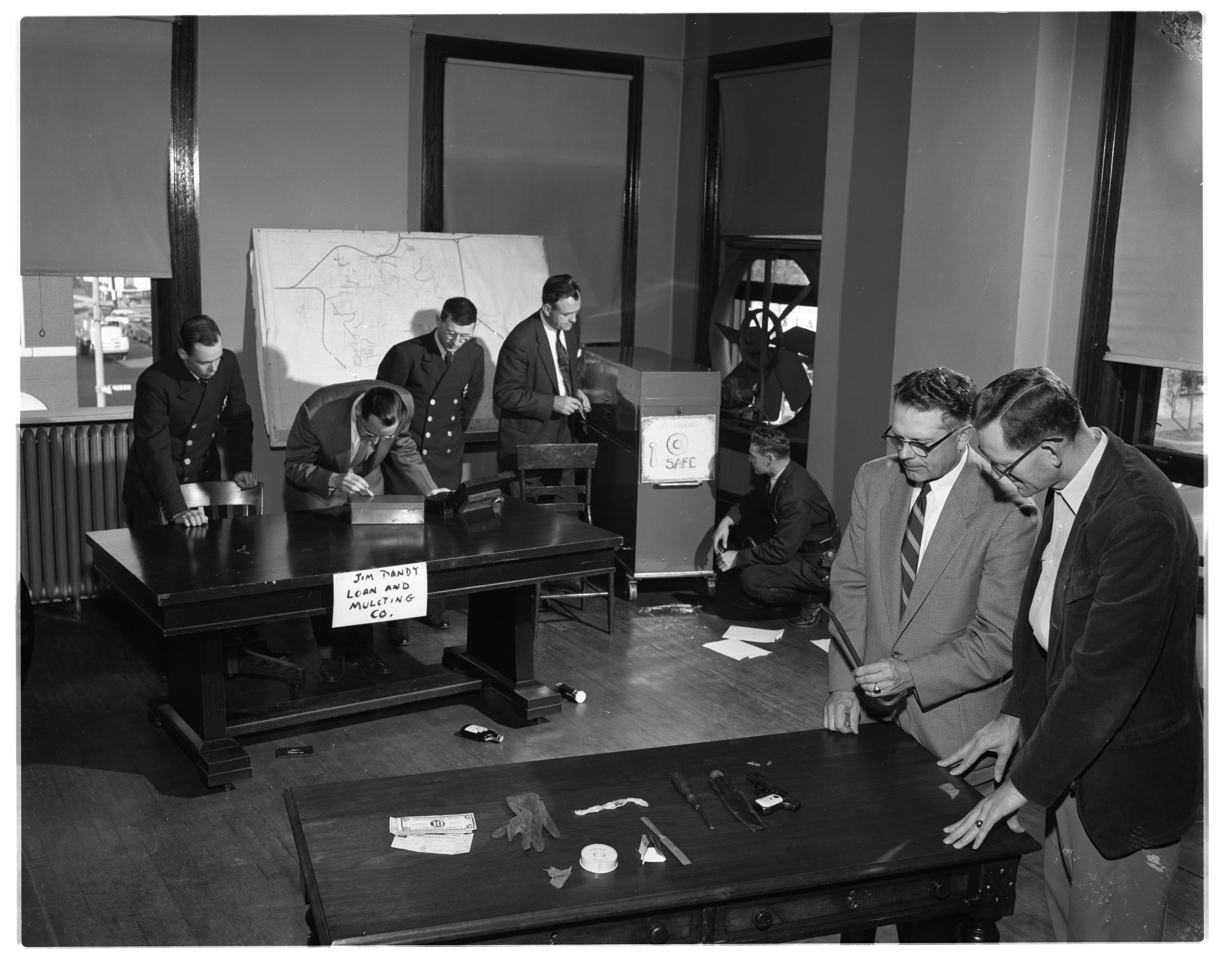 Ann Arbor Police Department Investigative Training at City Hall, October 1954 image