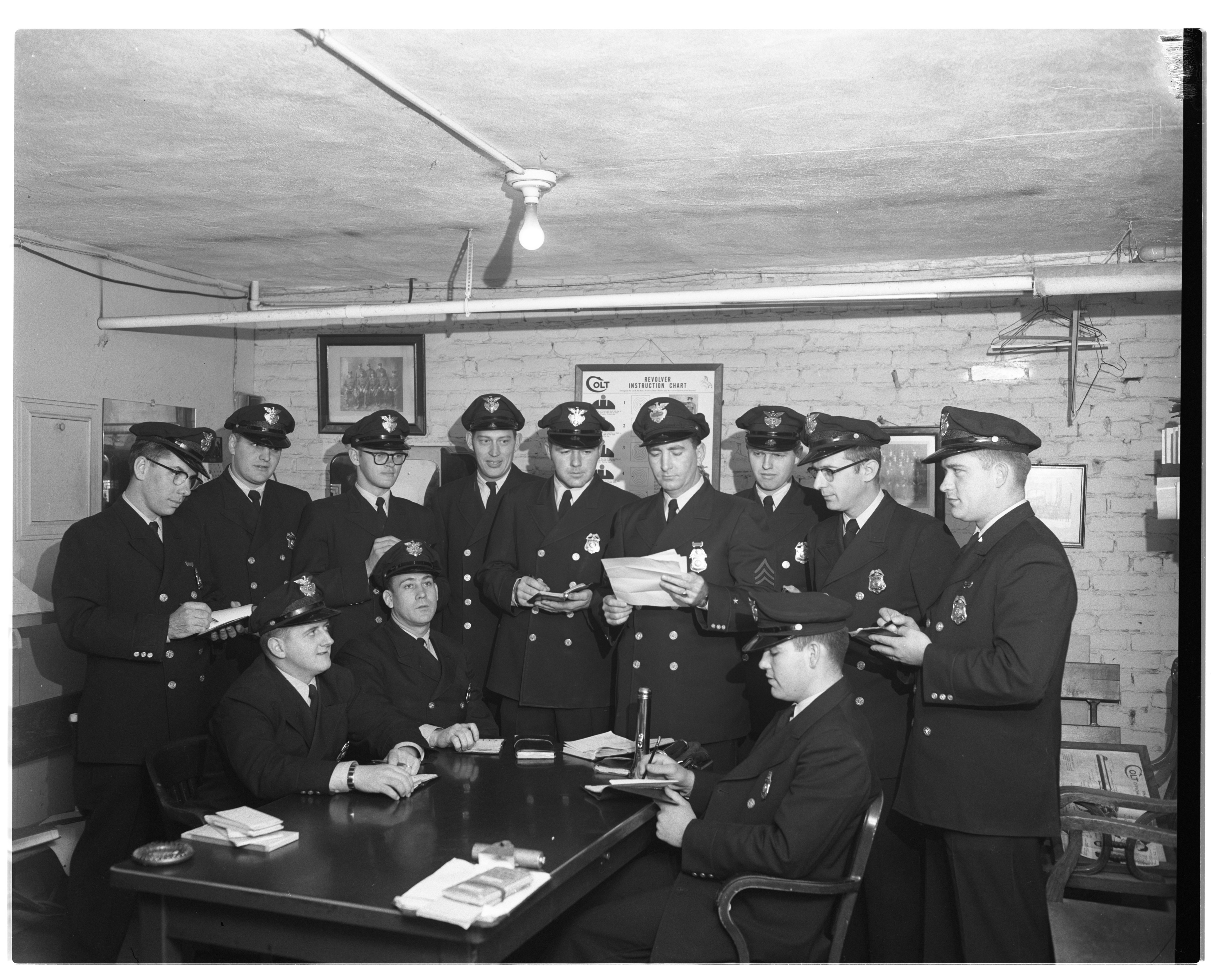 Shift Change At the Ann Arbor Police Department, May 1958 image