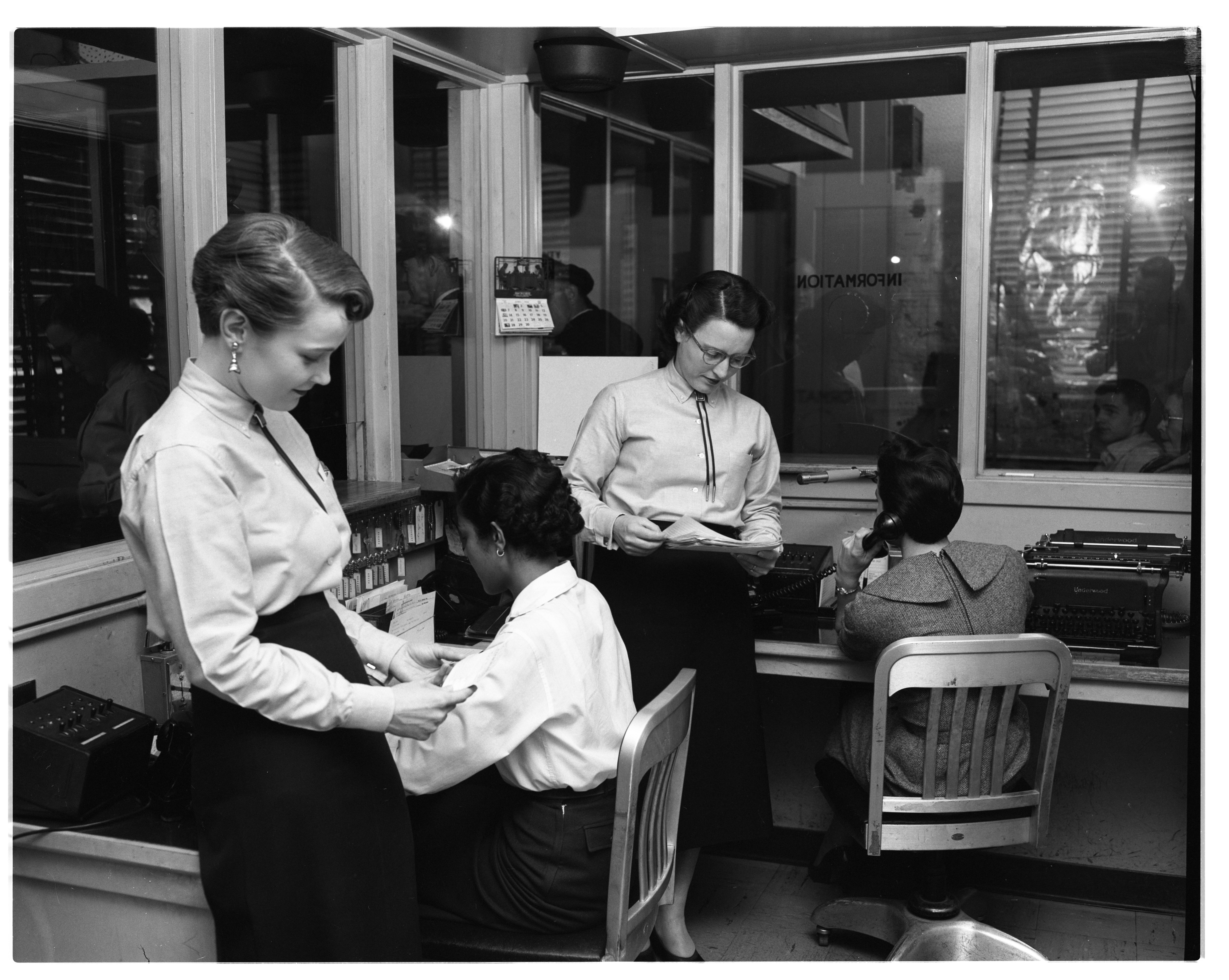 Ann Arbor Police Department Dispatchers, May 1958 image