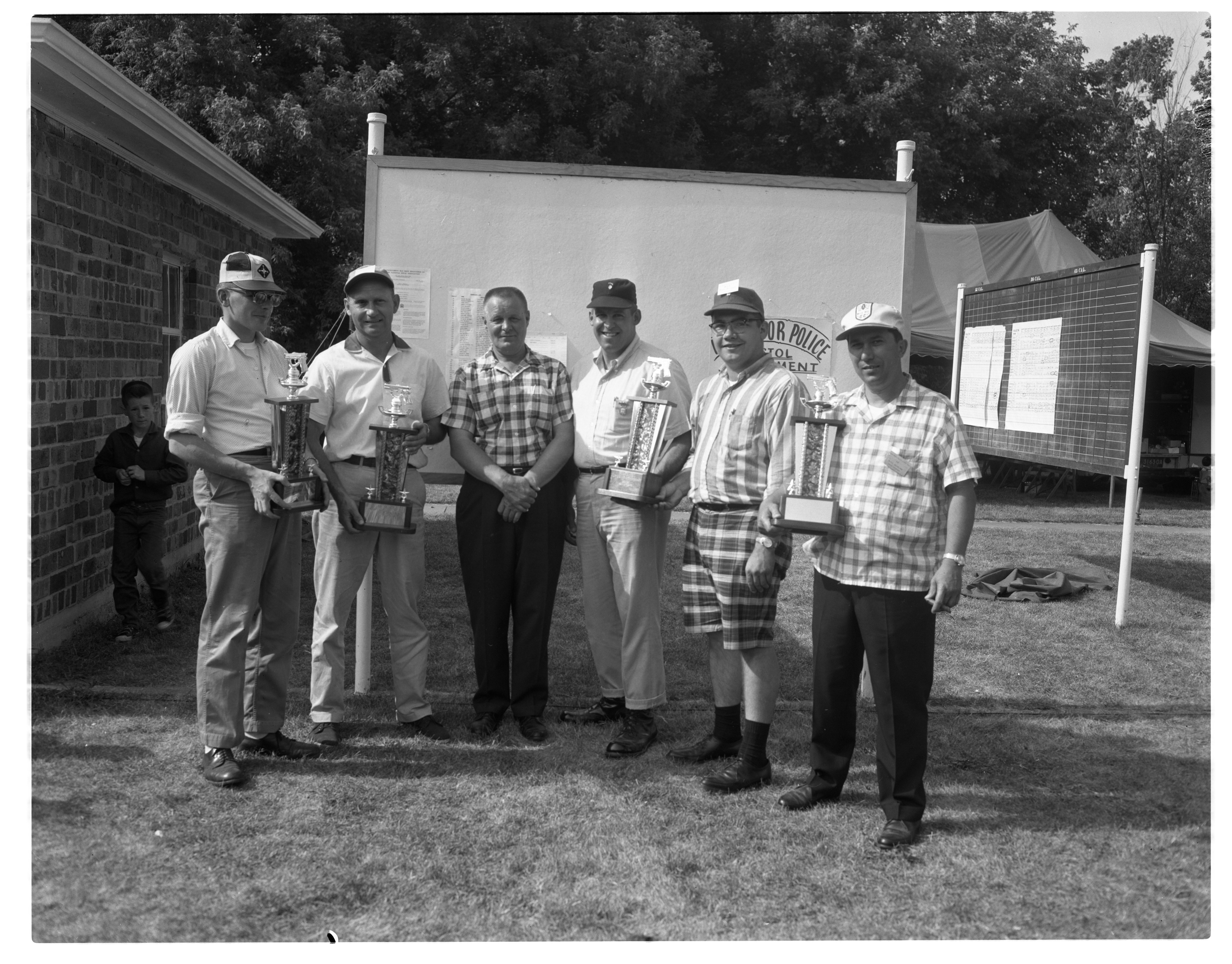 Winners at the Ann Arbor Police Department Shooting Competition, June 1965 image