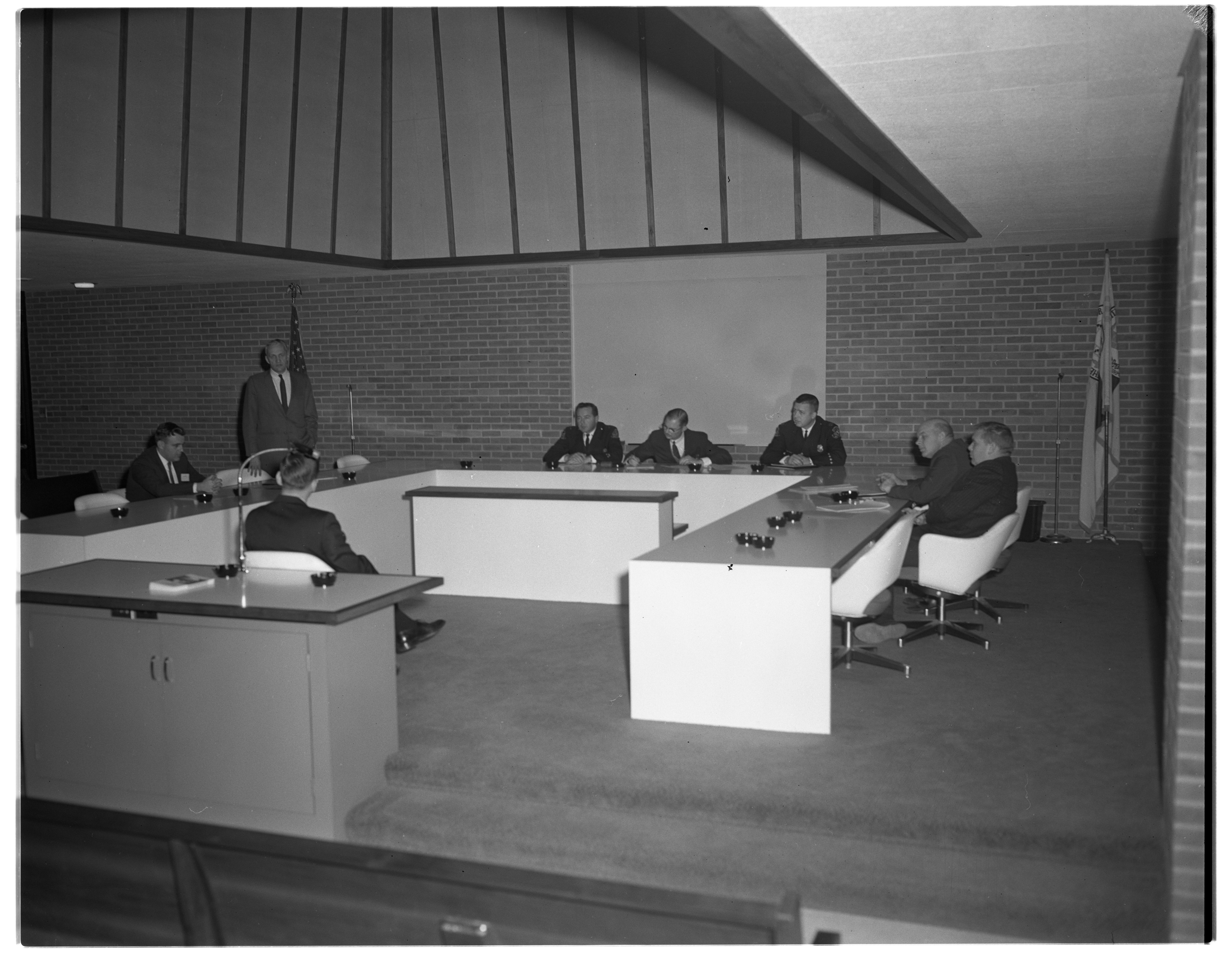 Ann Arbor Police Train Recruits In Mock Trial, December 1966 image