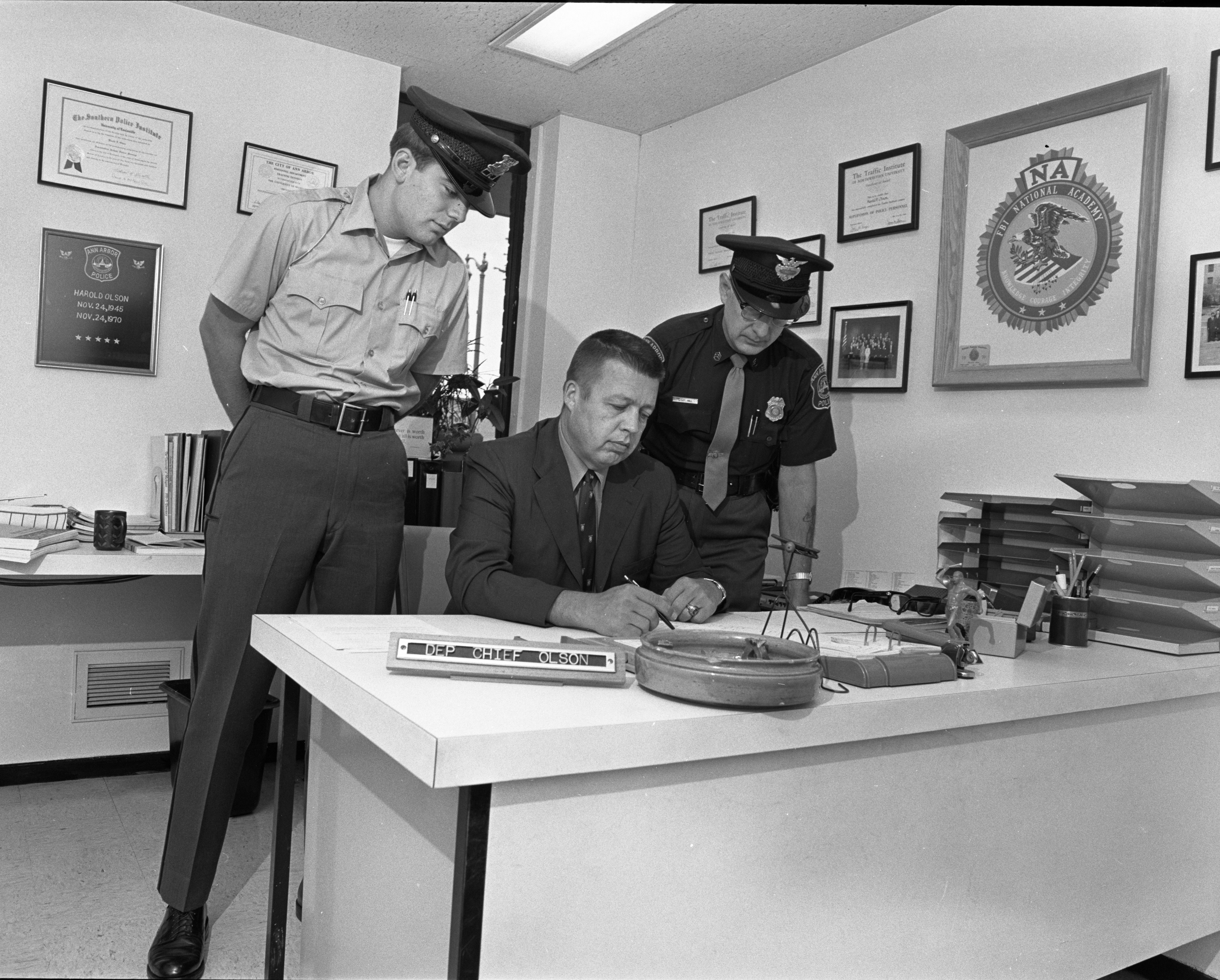 Ann Arbor Police Department First Father-Son Combination, August 1971 image