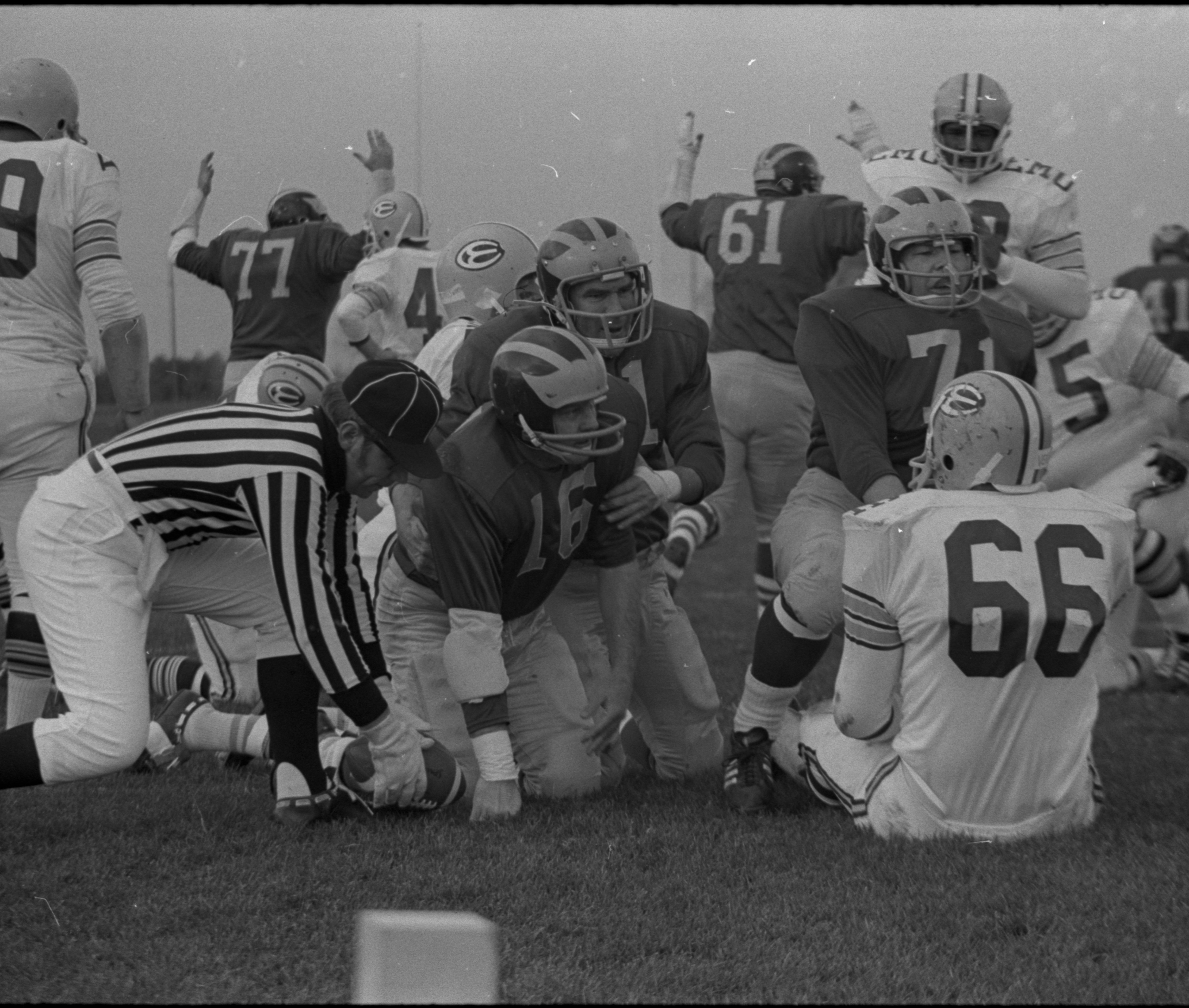 Washtenaw County Sheriff's Department  vs. Ann Arbor Police In Annual Pig Bowl Game, November 1971 image