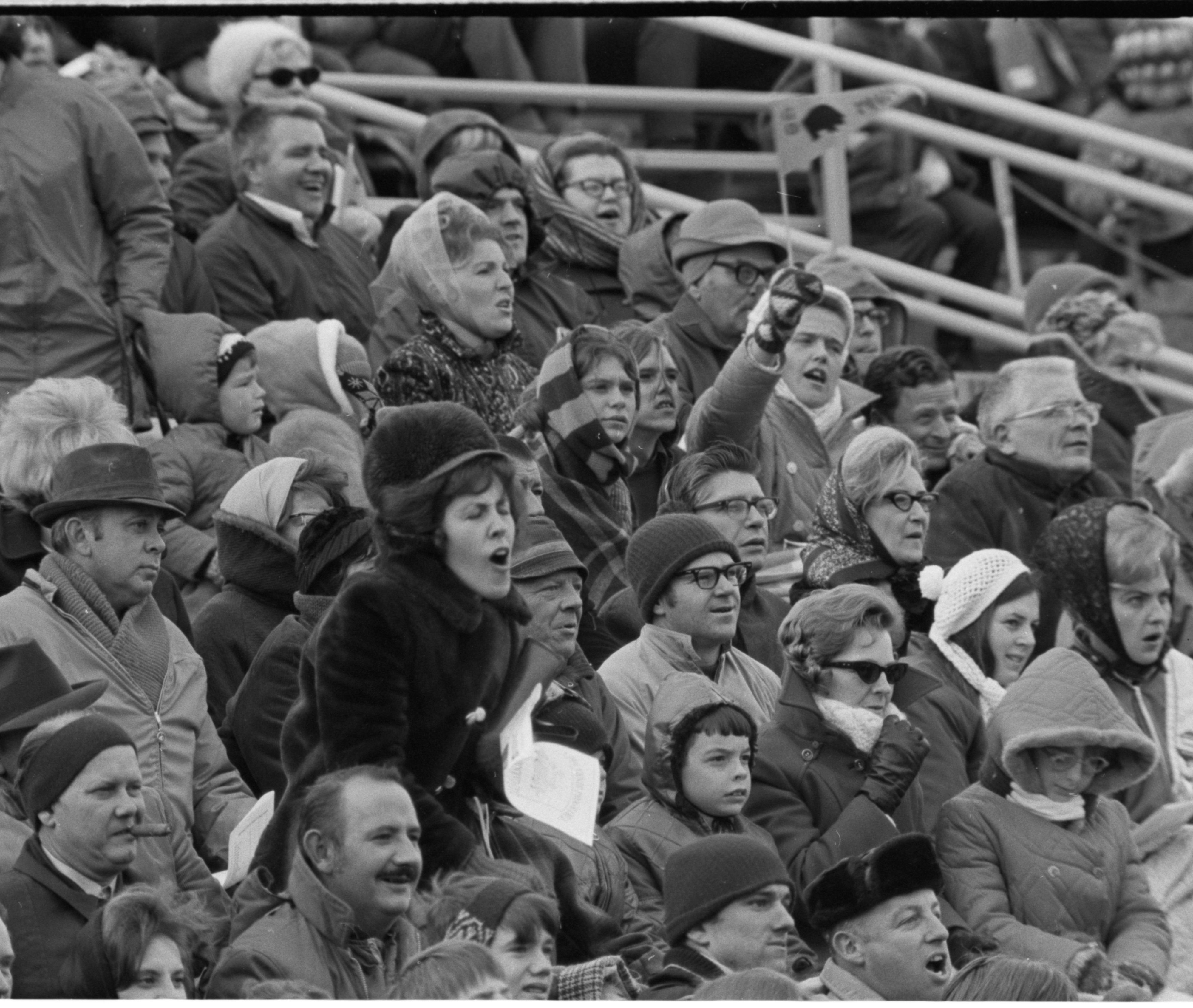 Fans Get Into The Spirit at the Annual Pig Bowl Game, November 1971 image
