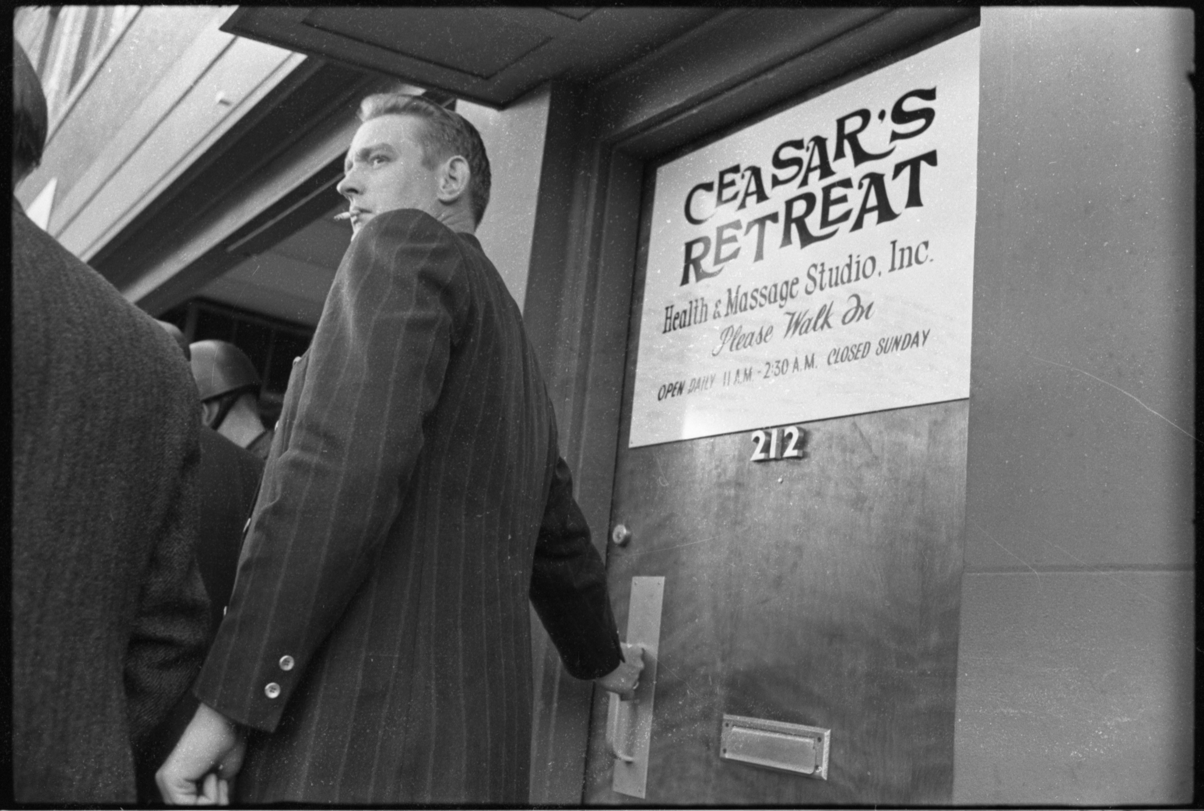 Ann Arbor Police Raid Ceasar's Retreat Massage Parlor, October 1972 image