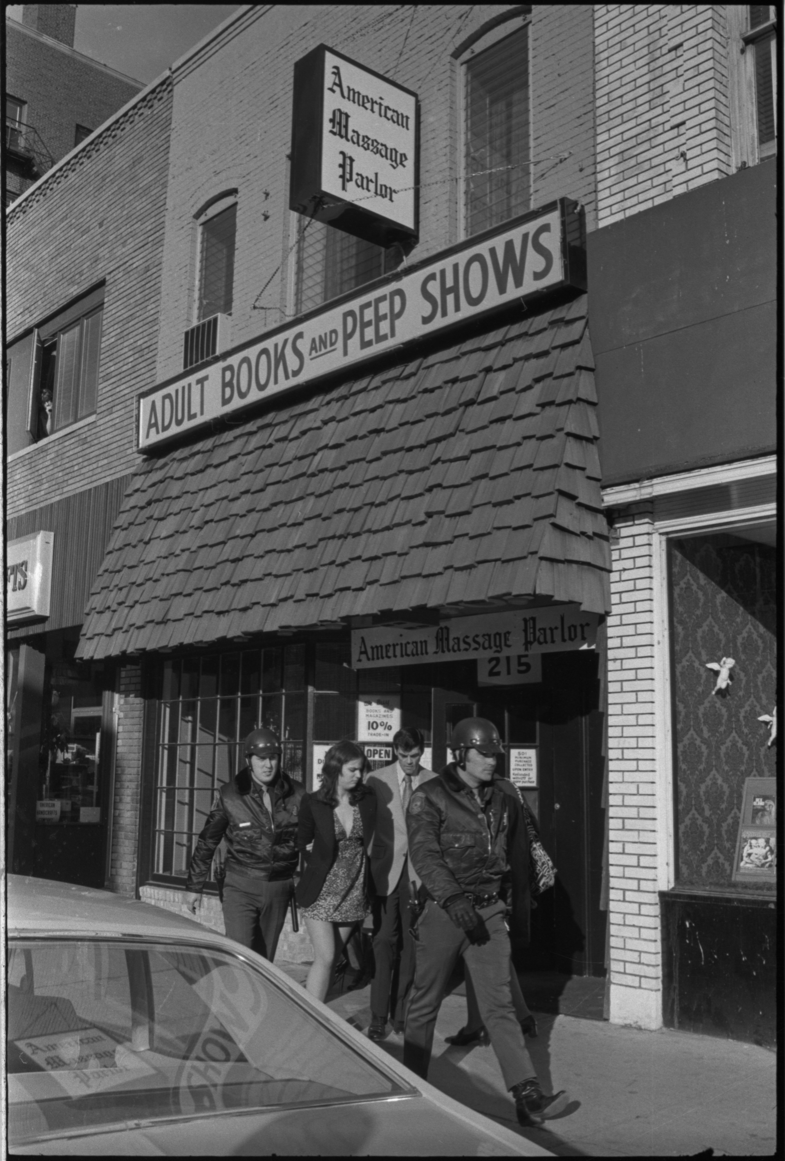 Ann Arbor Police Raid American Massage Parlor, October 1972 image