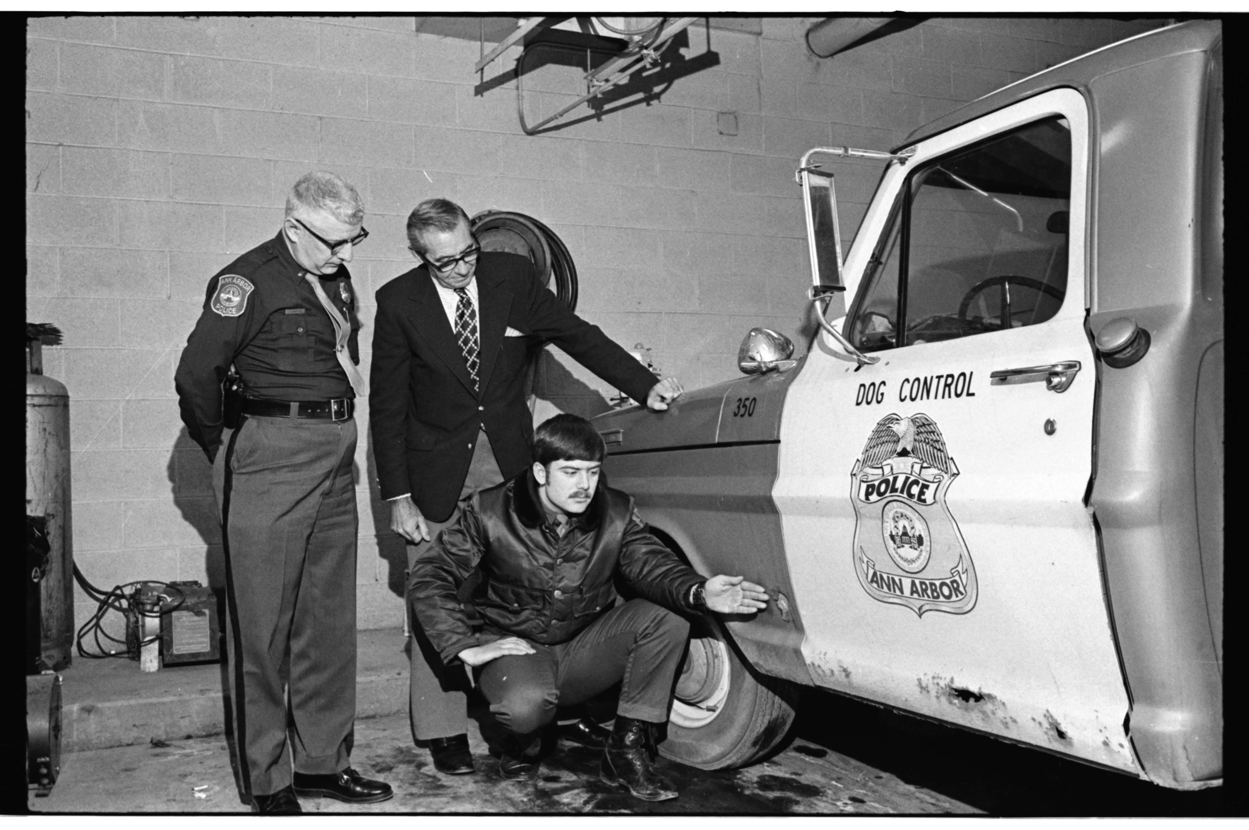 Ann Arbor Police Officer Aided In Arrests In Armed Robbery at Ann Arbor Bank Branch on Packard Rd, March 1973 image