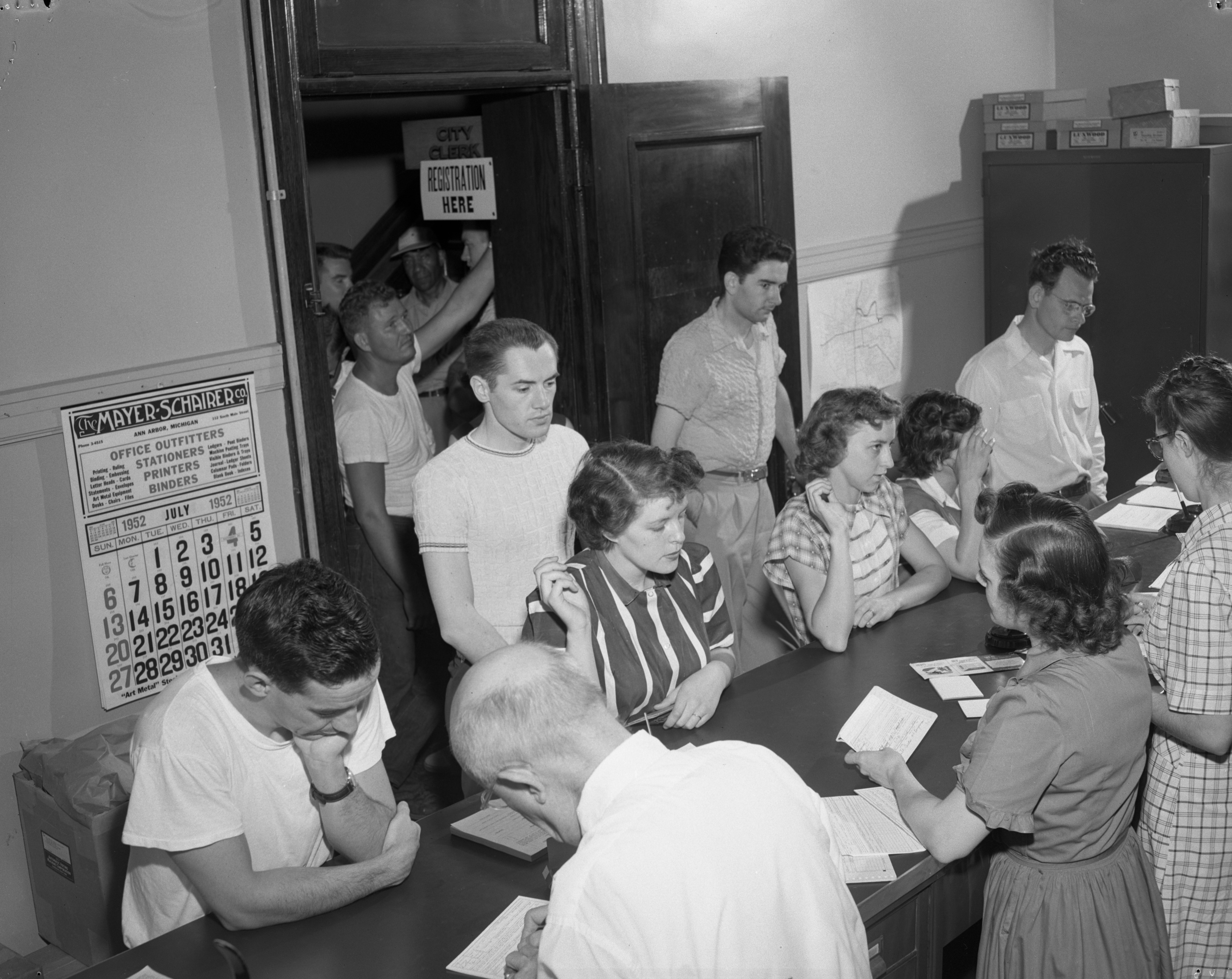 Last Day of Voting Registration, July 1952 image