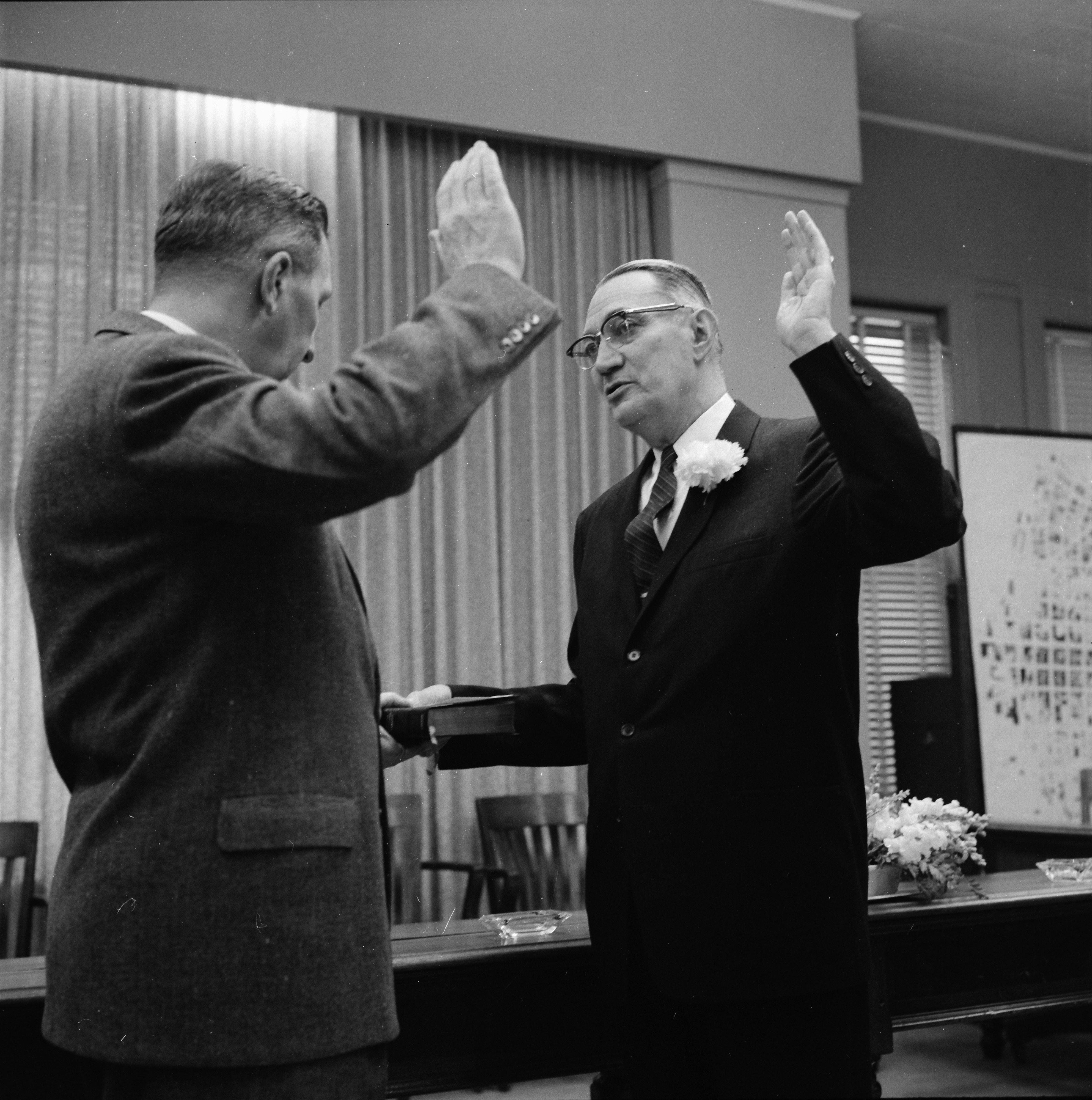 Image from Cecil O. Creal Sworn In As Mayor of Ann Arbor, April 1959