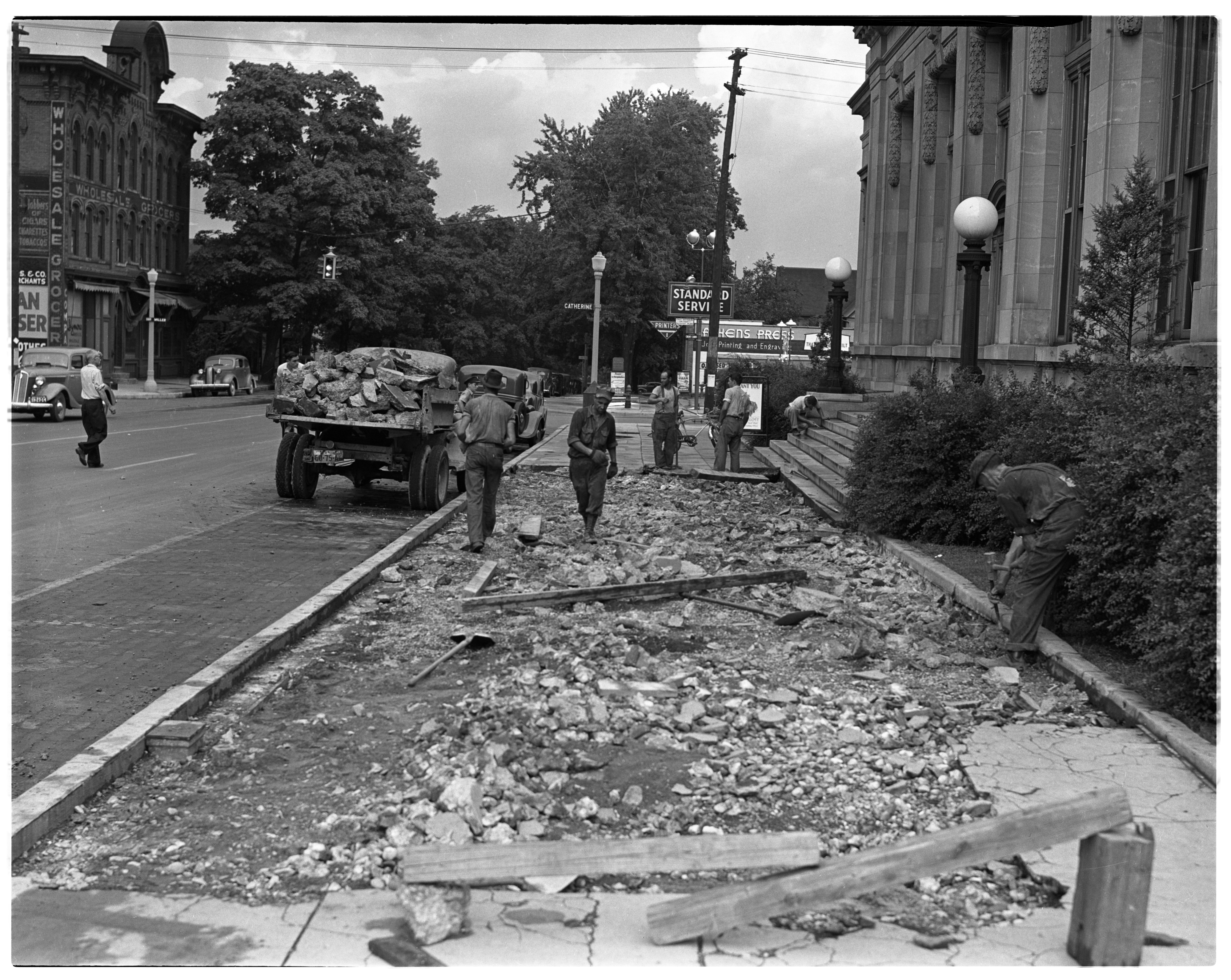 Ann Arbor Post Office Gets New Sidewalk, 1940 image