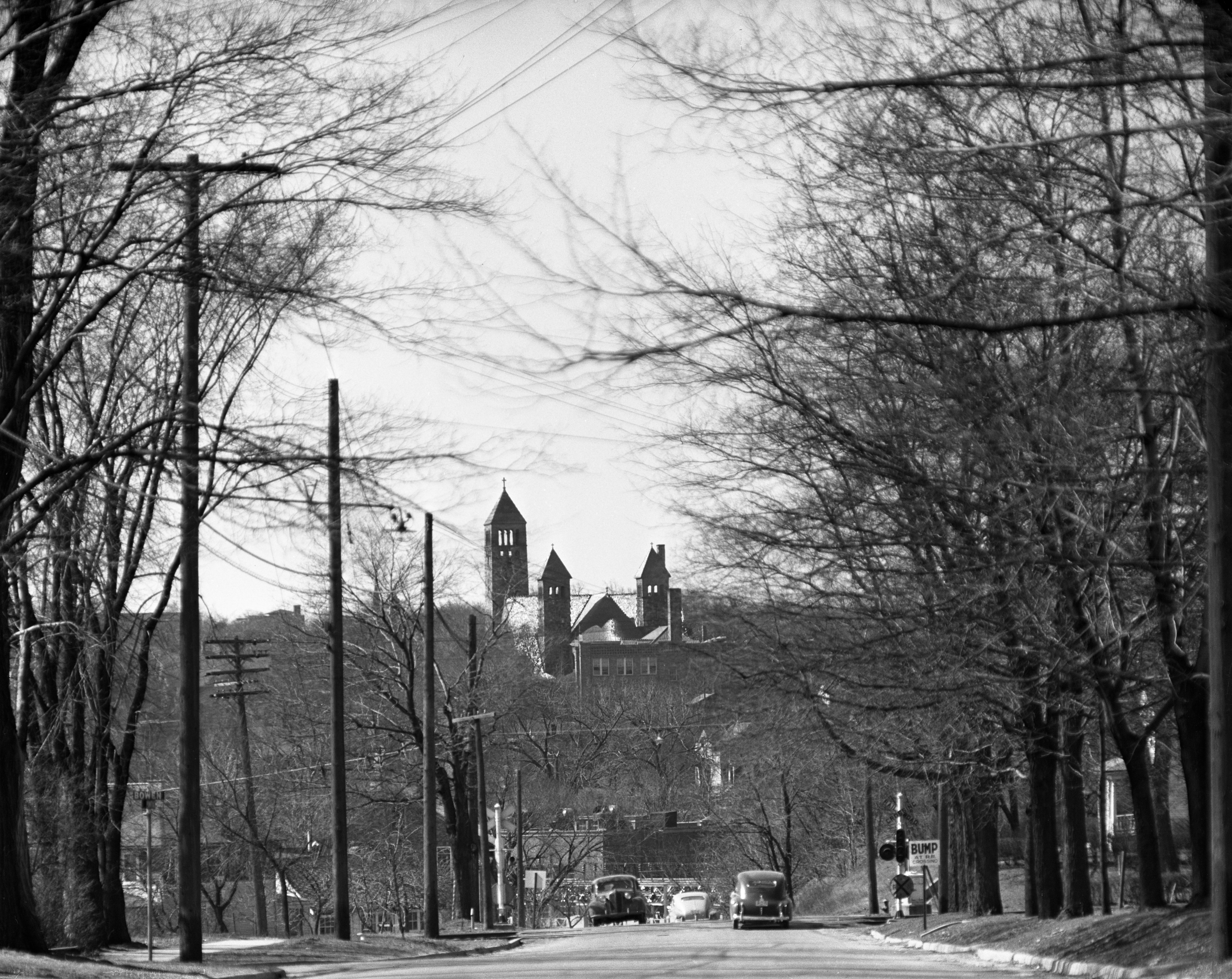 St. Thomas Church viewed from Pontiac Trail, April 1950 image