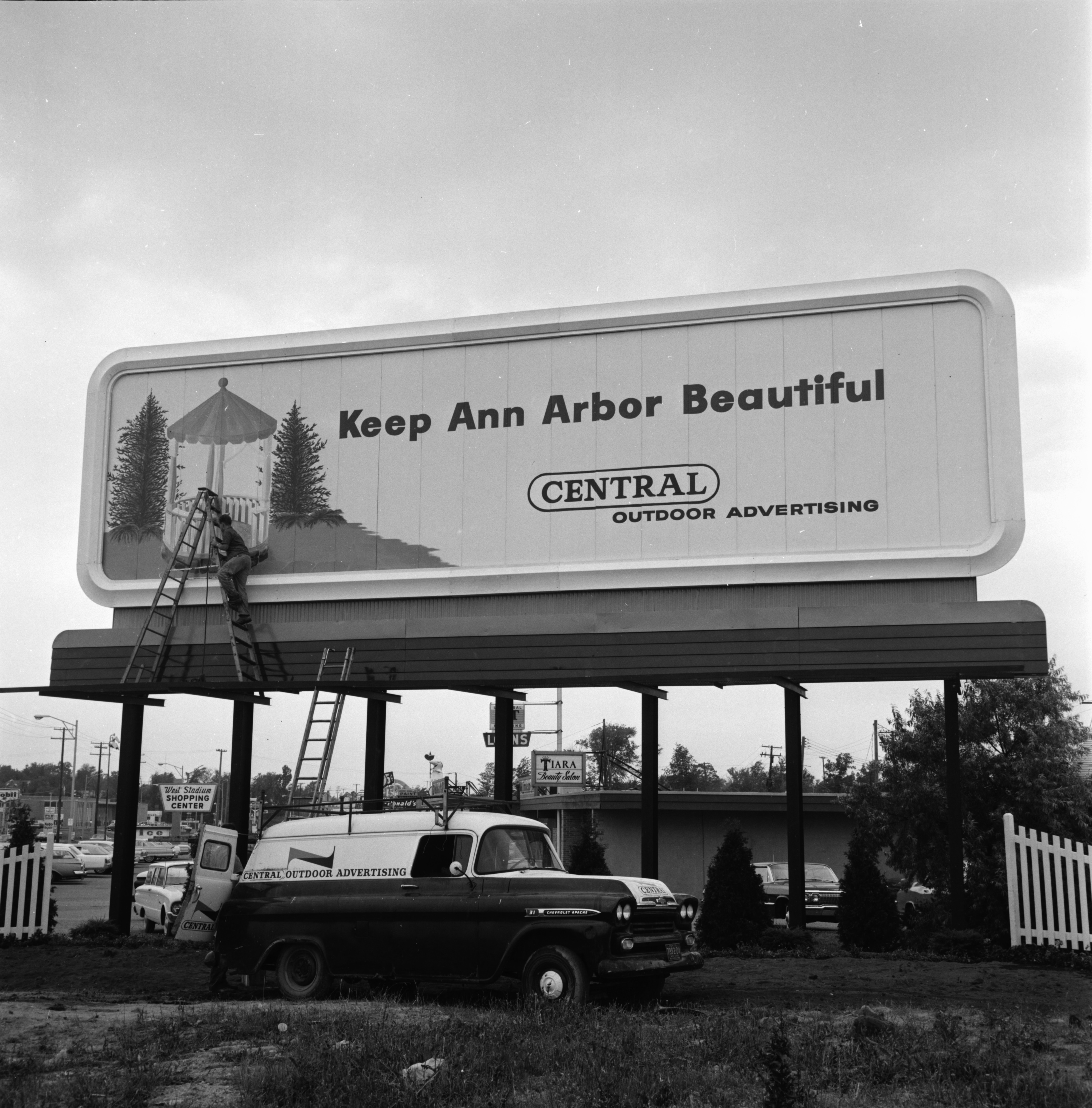 Controversial Billboard Completed, July 1965 image