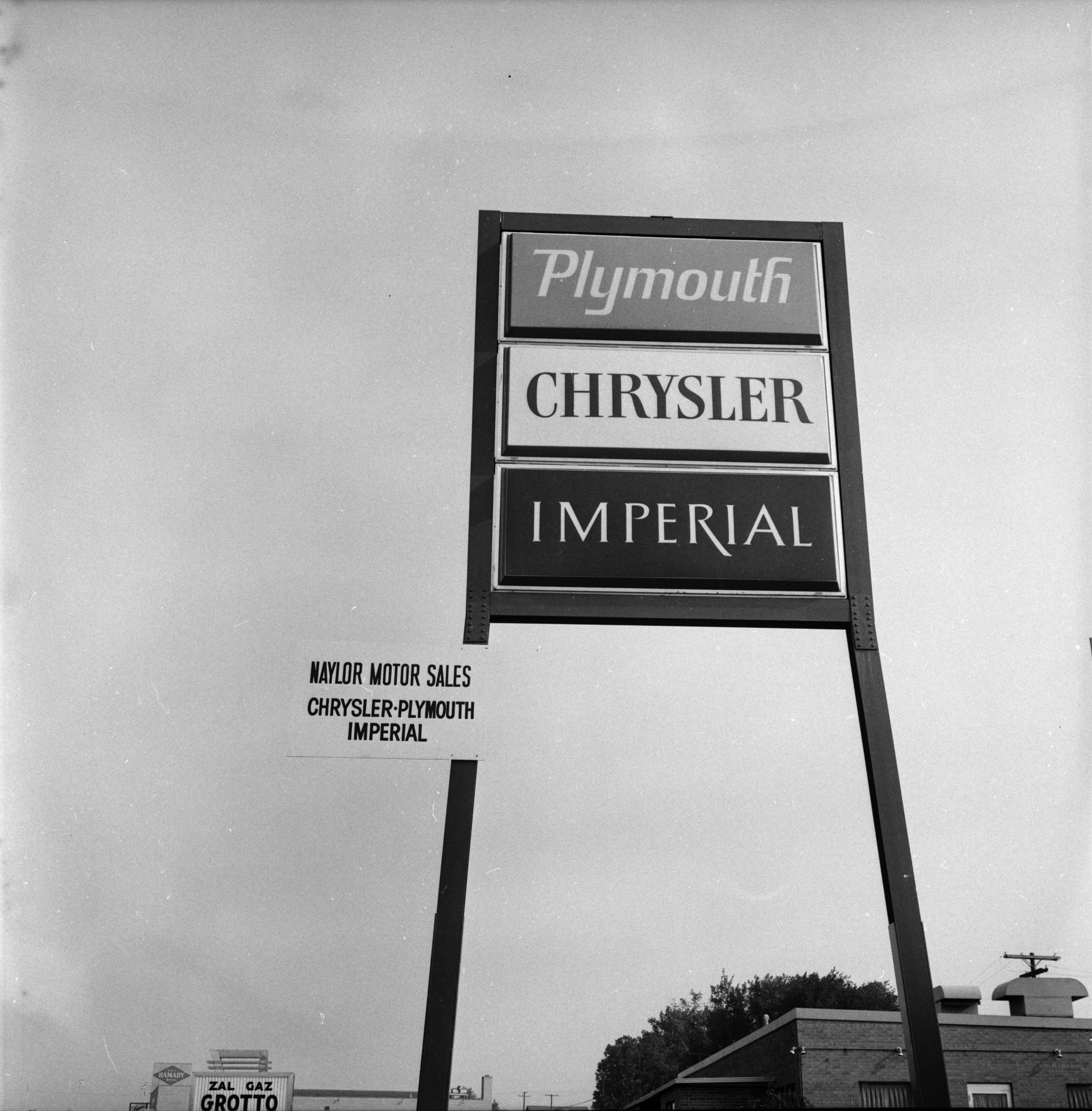 Ann Arbor Chamber of Commerce Sample Sign at Chrysler-Plymouth Imperial, August 1966 image