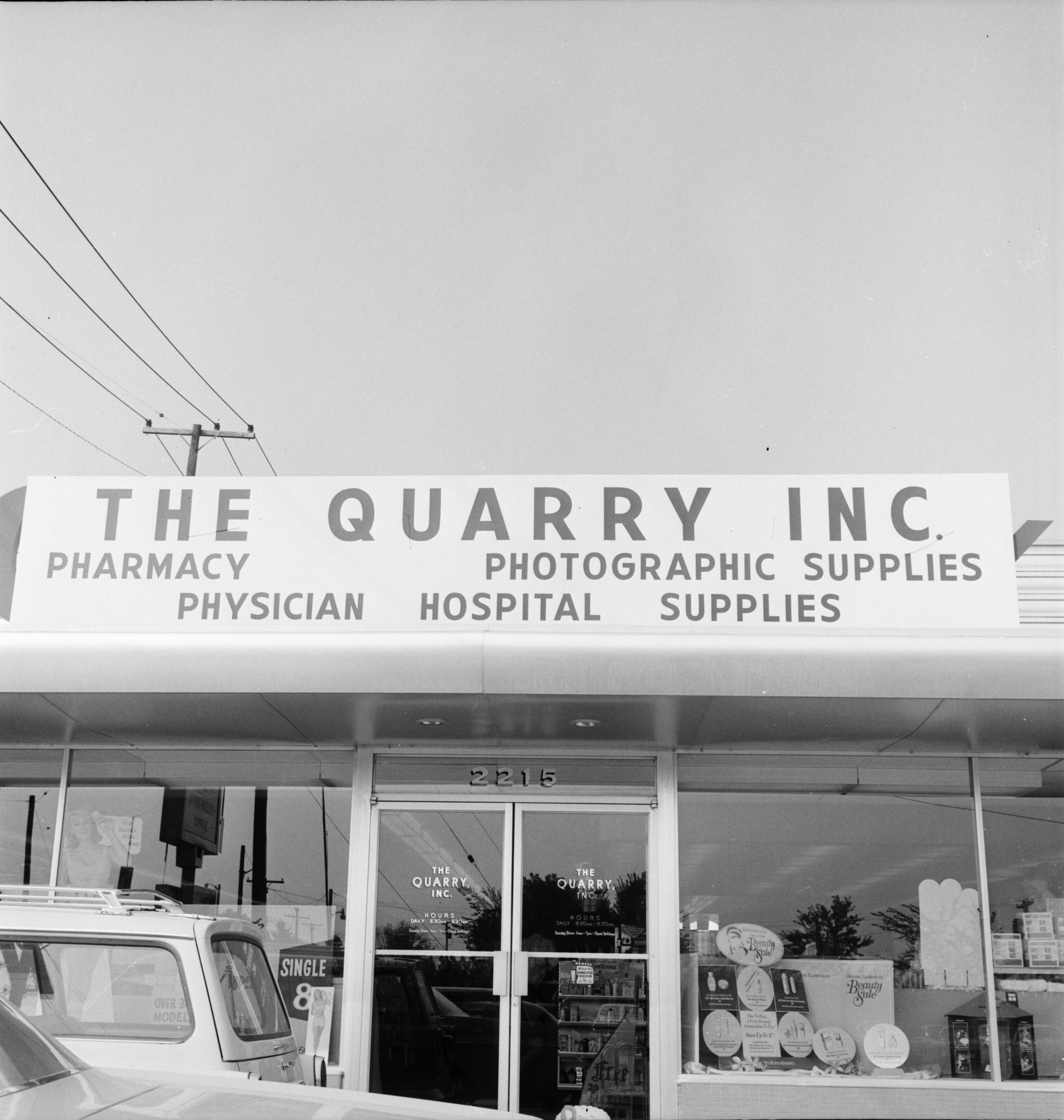 Ann Arbor Chamber of Commerce Sample Sign at The Quarry Inc., August 1966 image