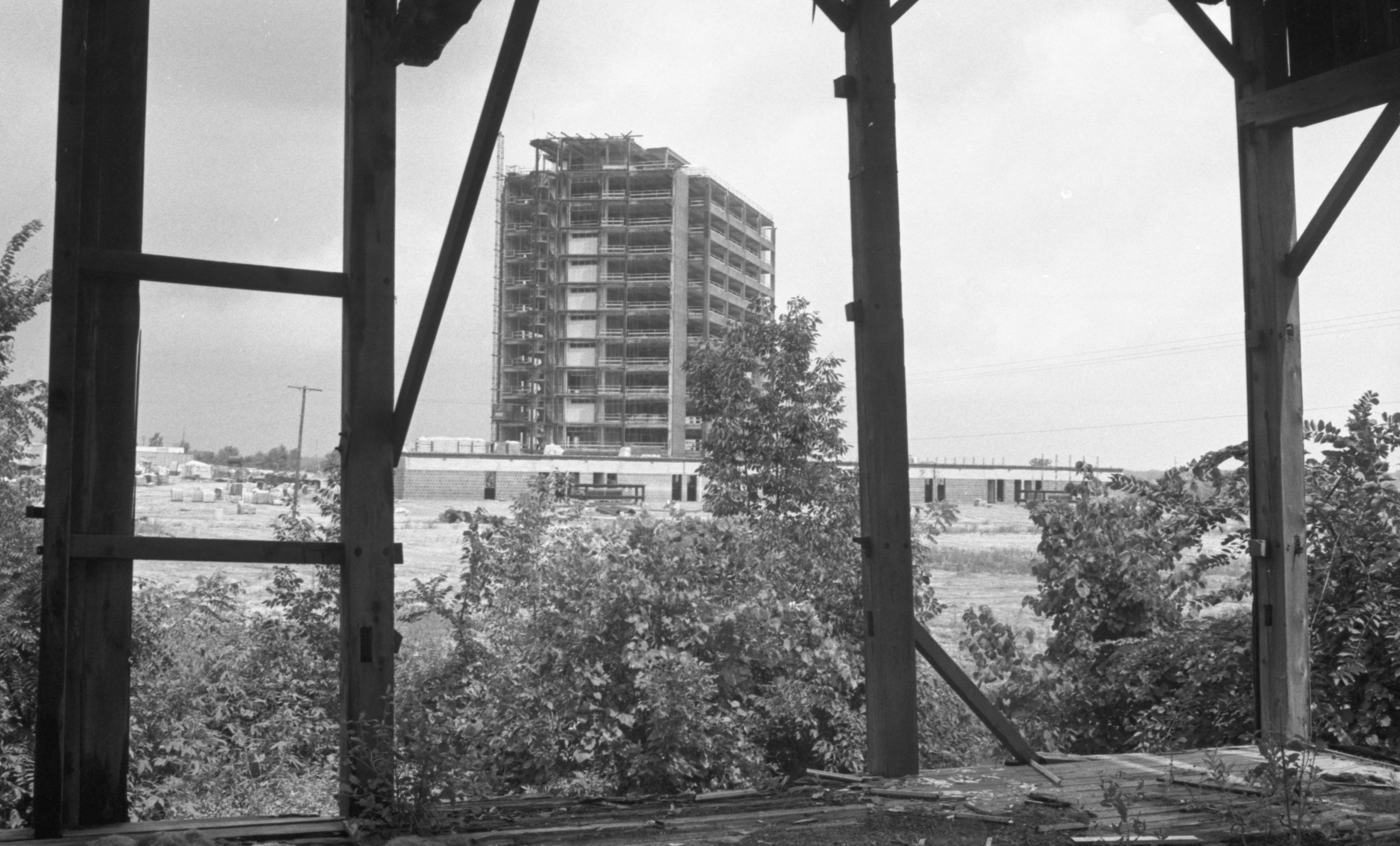 Wolverine Tower Under Construction, August 1973 image