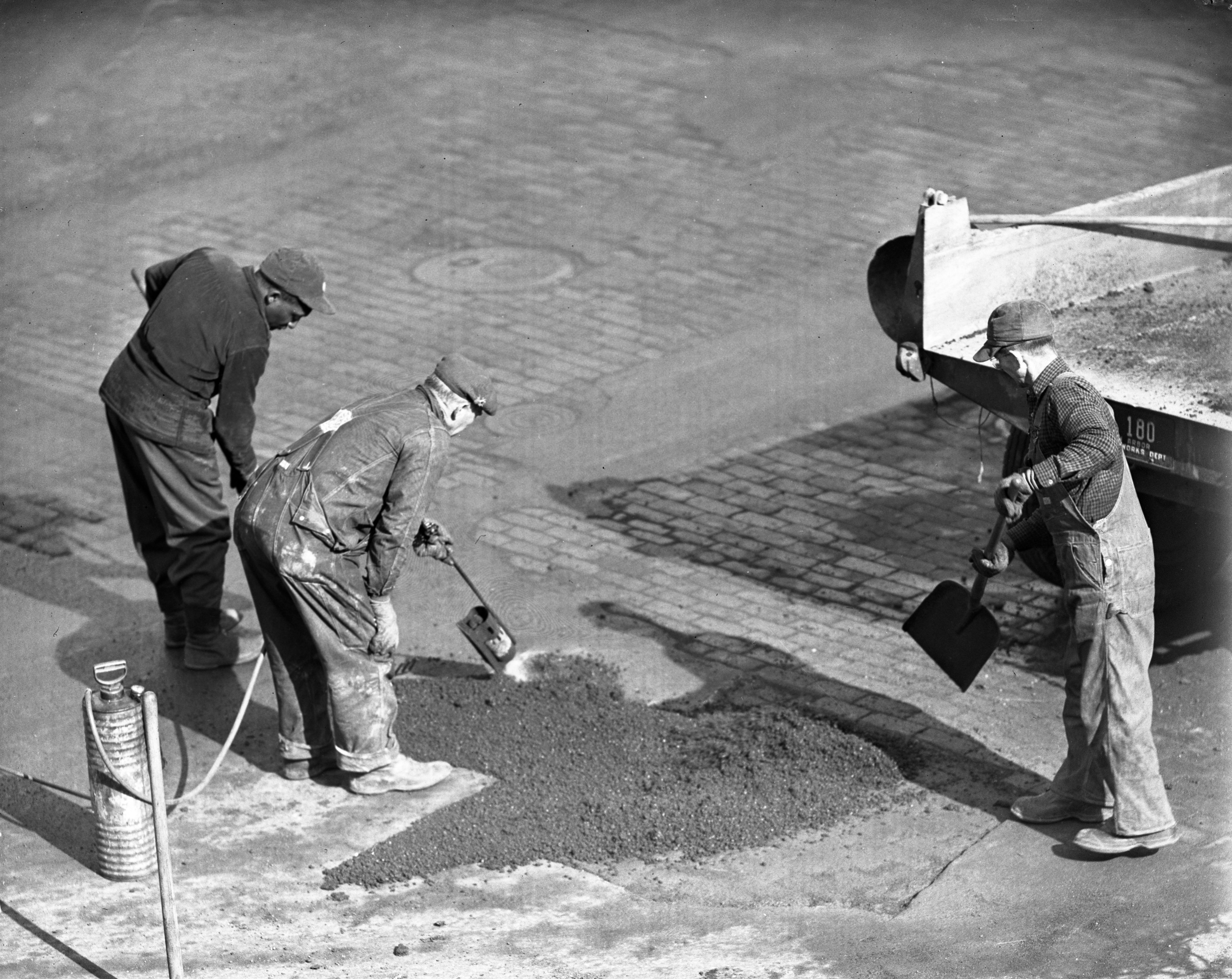 Repairing City Streets, March 1943 image