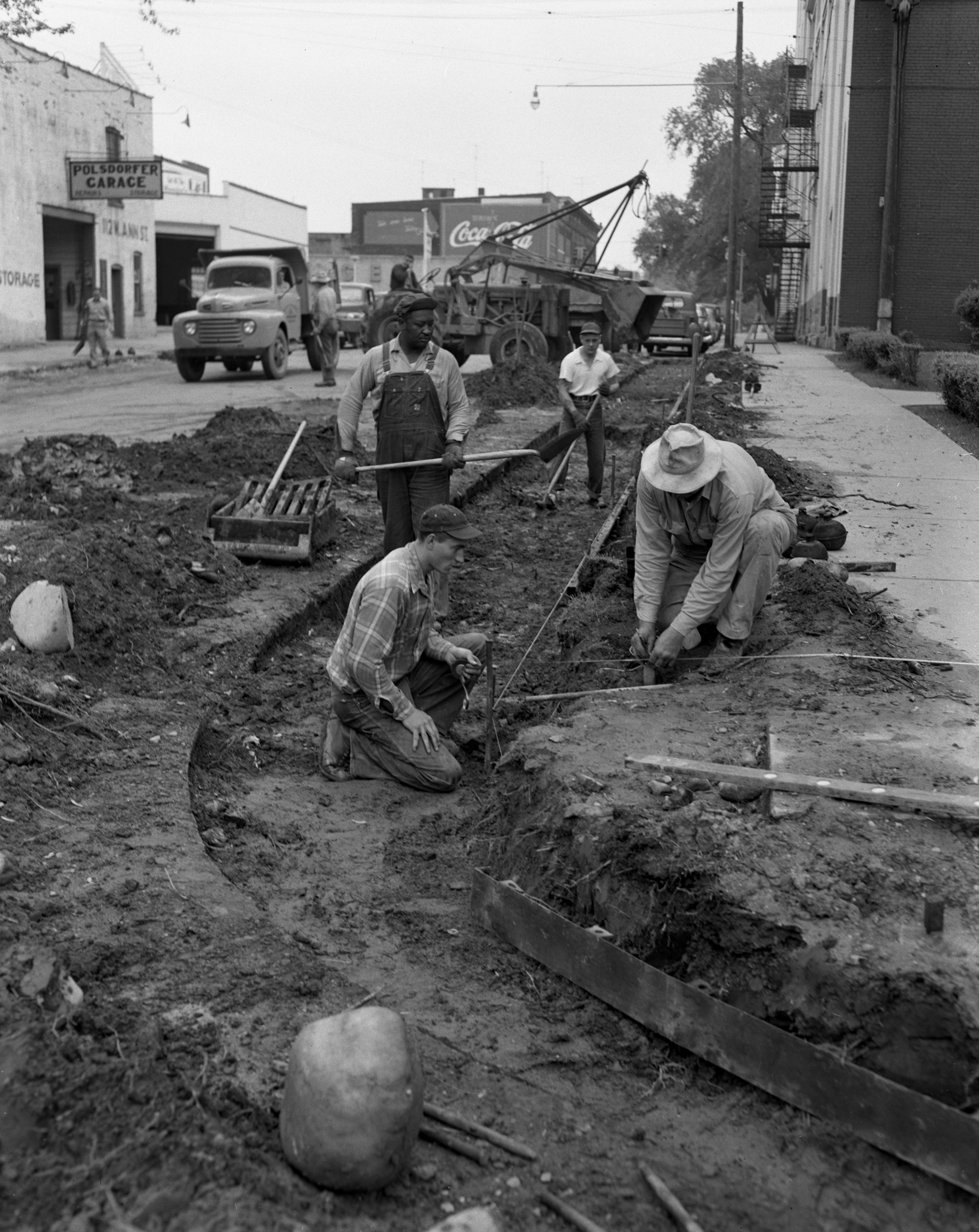 Widening West Ann Street, May 1952 image