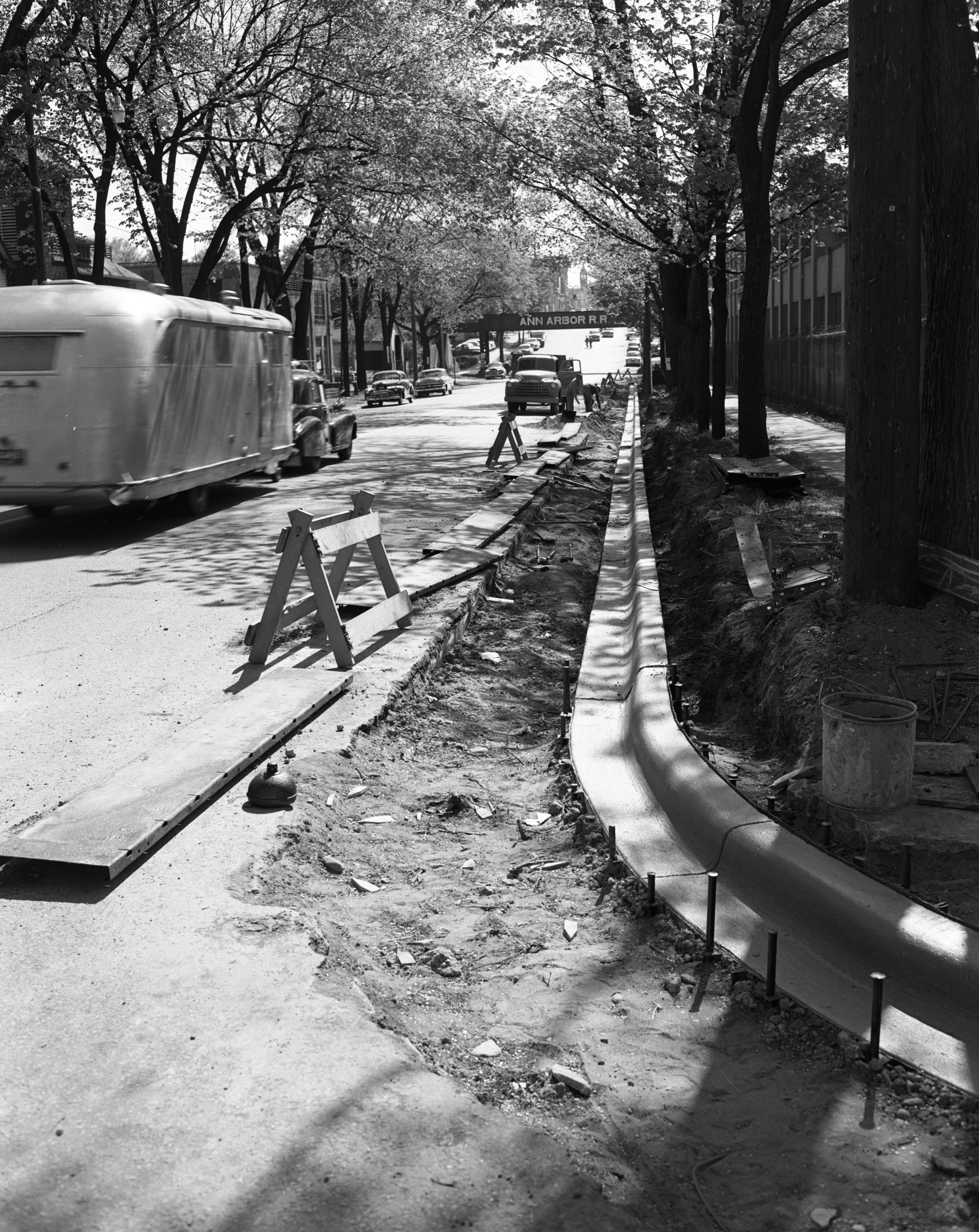 Widening West Huron Street, May 1954 image