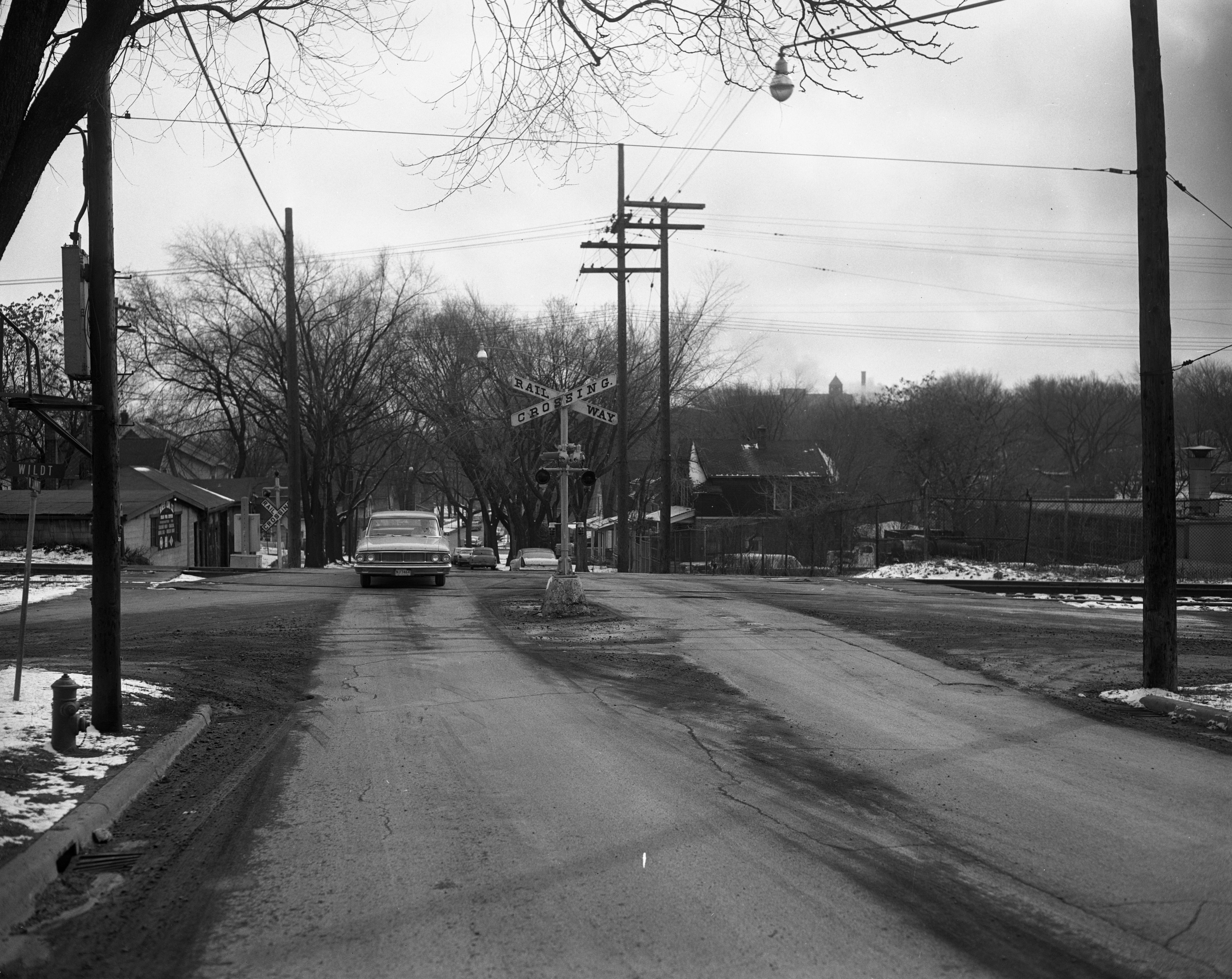 W. Summit St. and Ann Arbor Railroad crossing, February 1964 image