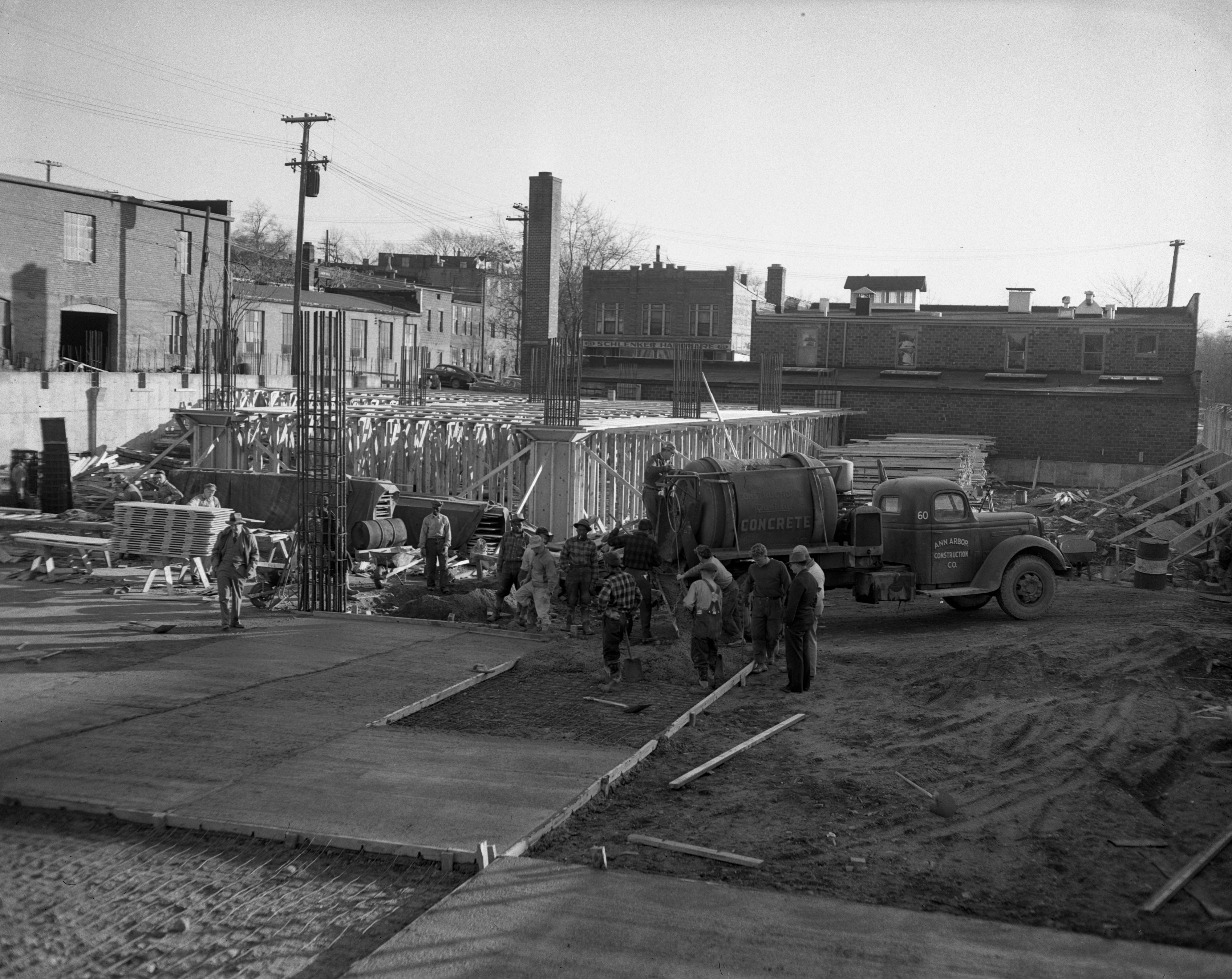 Construction Work For The First & Washington Parking Structure, November 1948 image