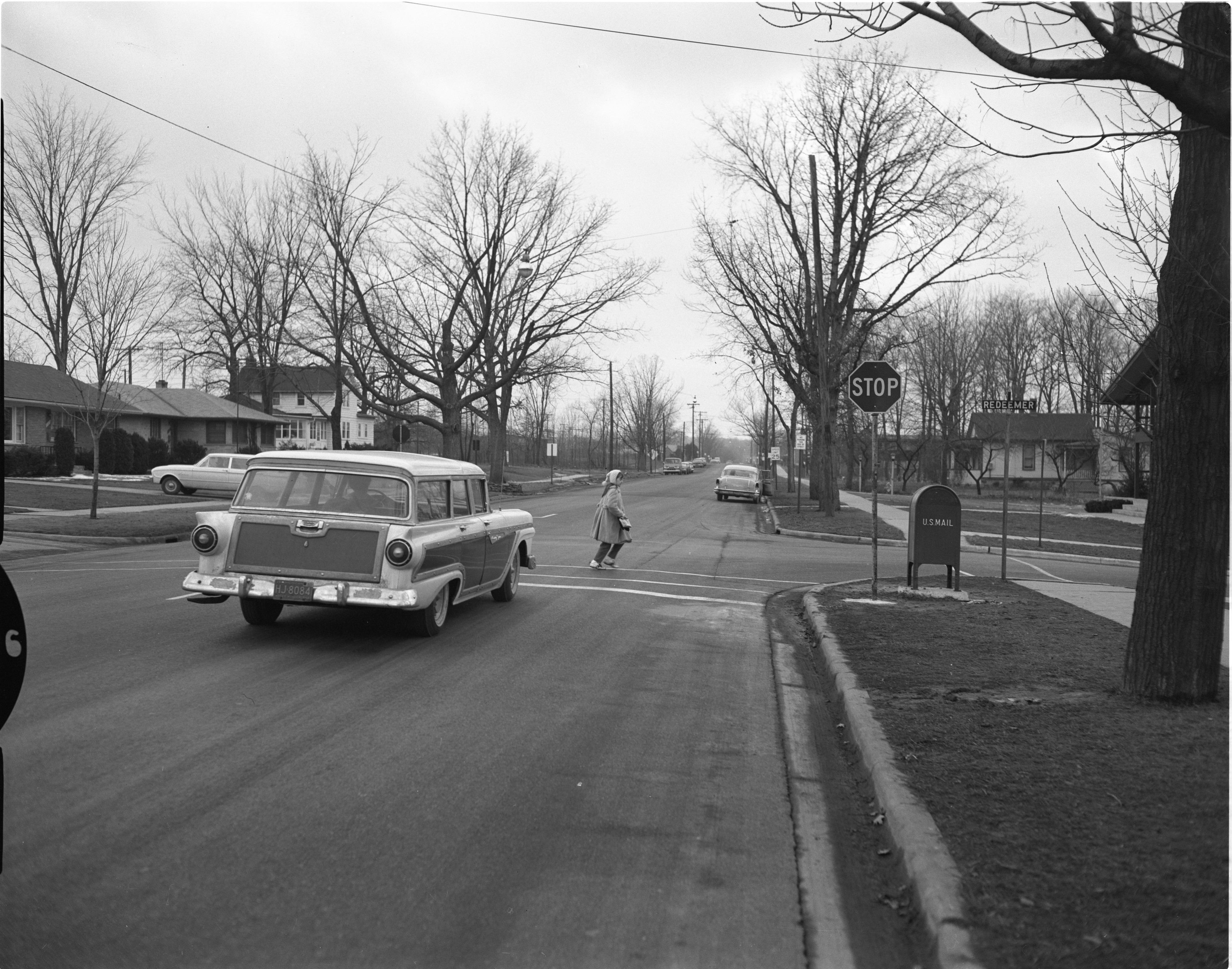 Tall Stop Sign At Corner of Redeemer Ave and Pauline Blvd, February 1961 image