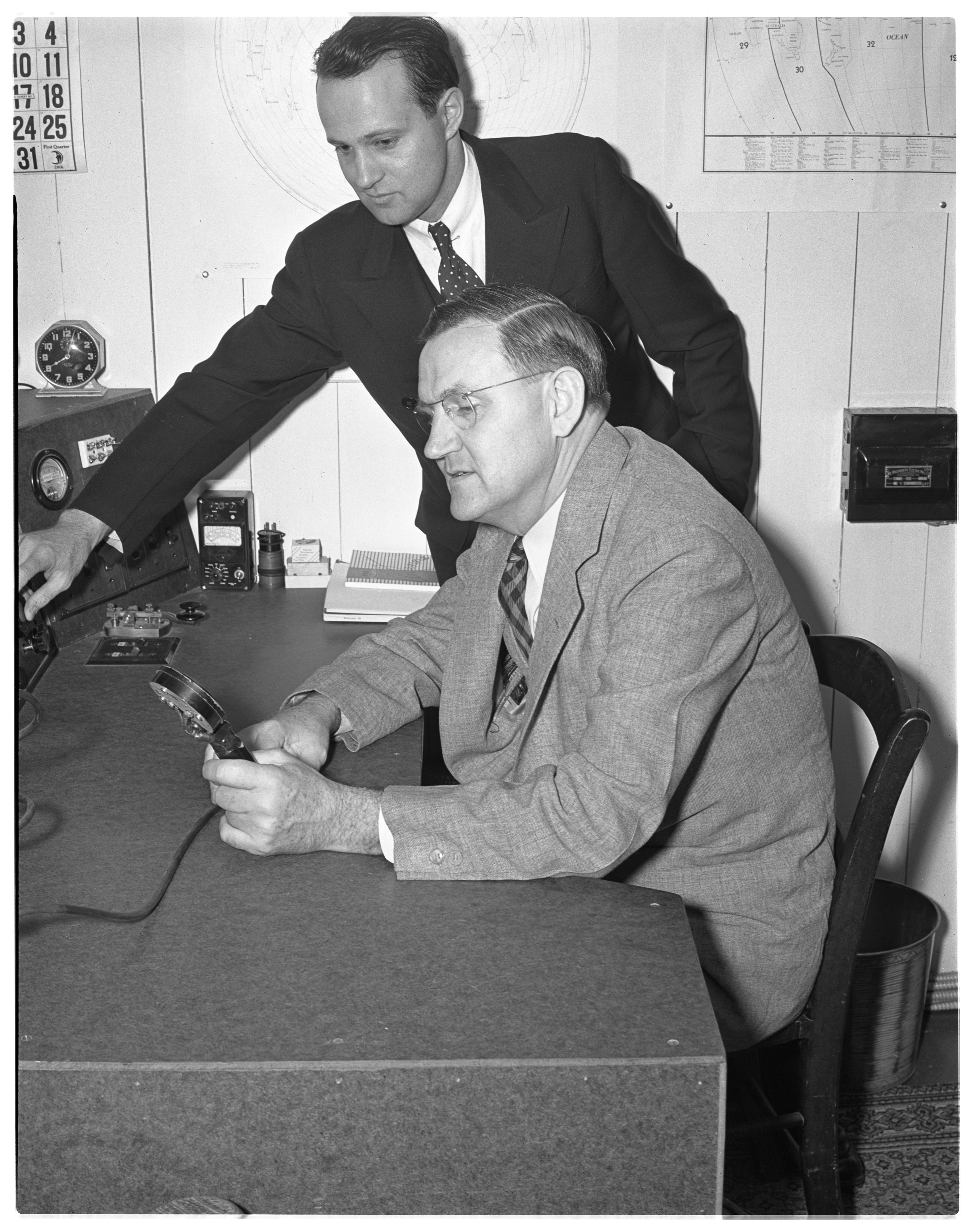 Radio Develops Long-Distance Friendship Between Dr. John D. Kraus and Rev. C. R. Stegall, March 1939 image