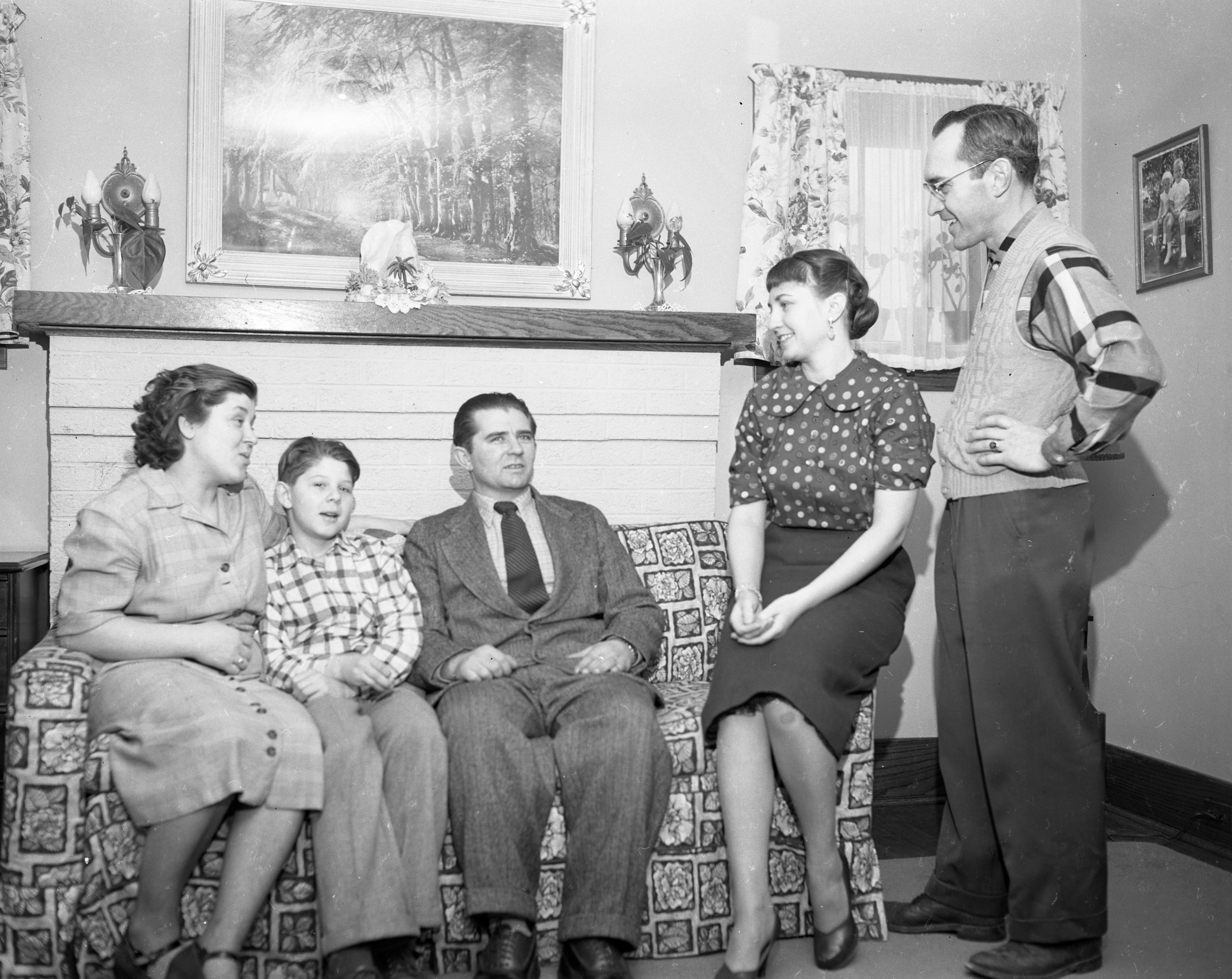Hungarian Refugee Family Welcomed To Ann Arbor, February 1957 image