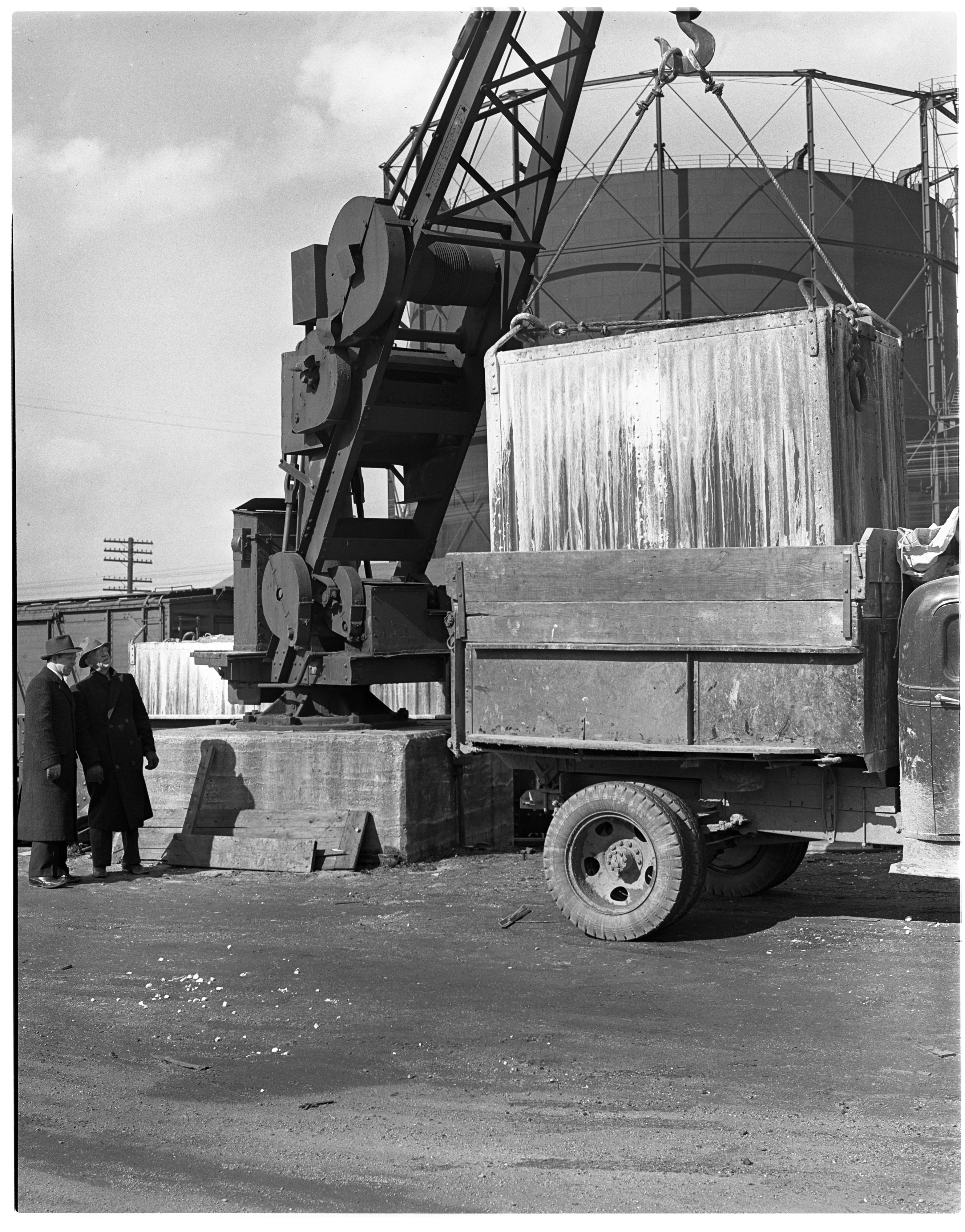 Lime Delivery for the Water Plant at Michigan Central Railroad Station image