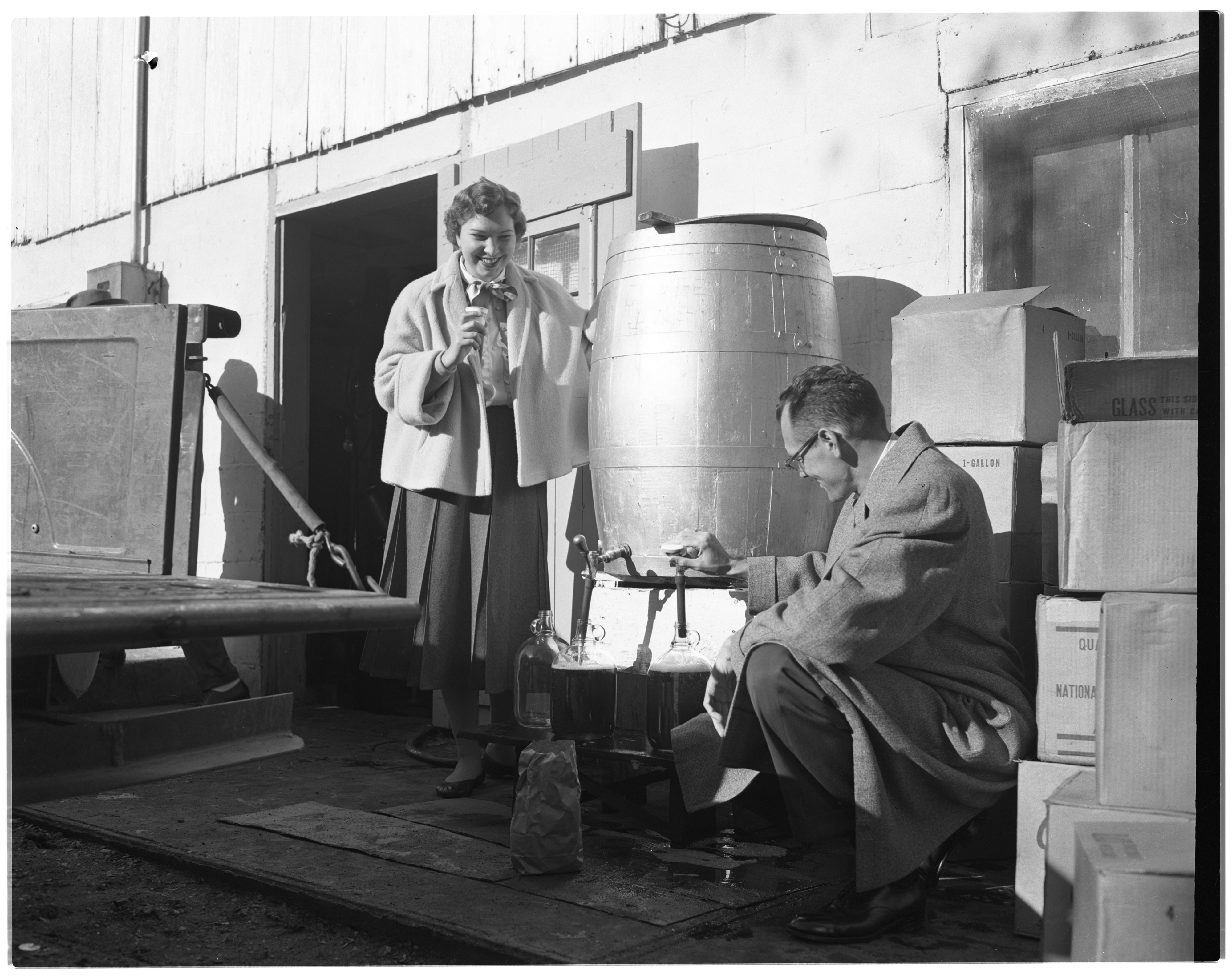 Dexter Cider Mill: O. Wagner and Son Filling Cider Jug image