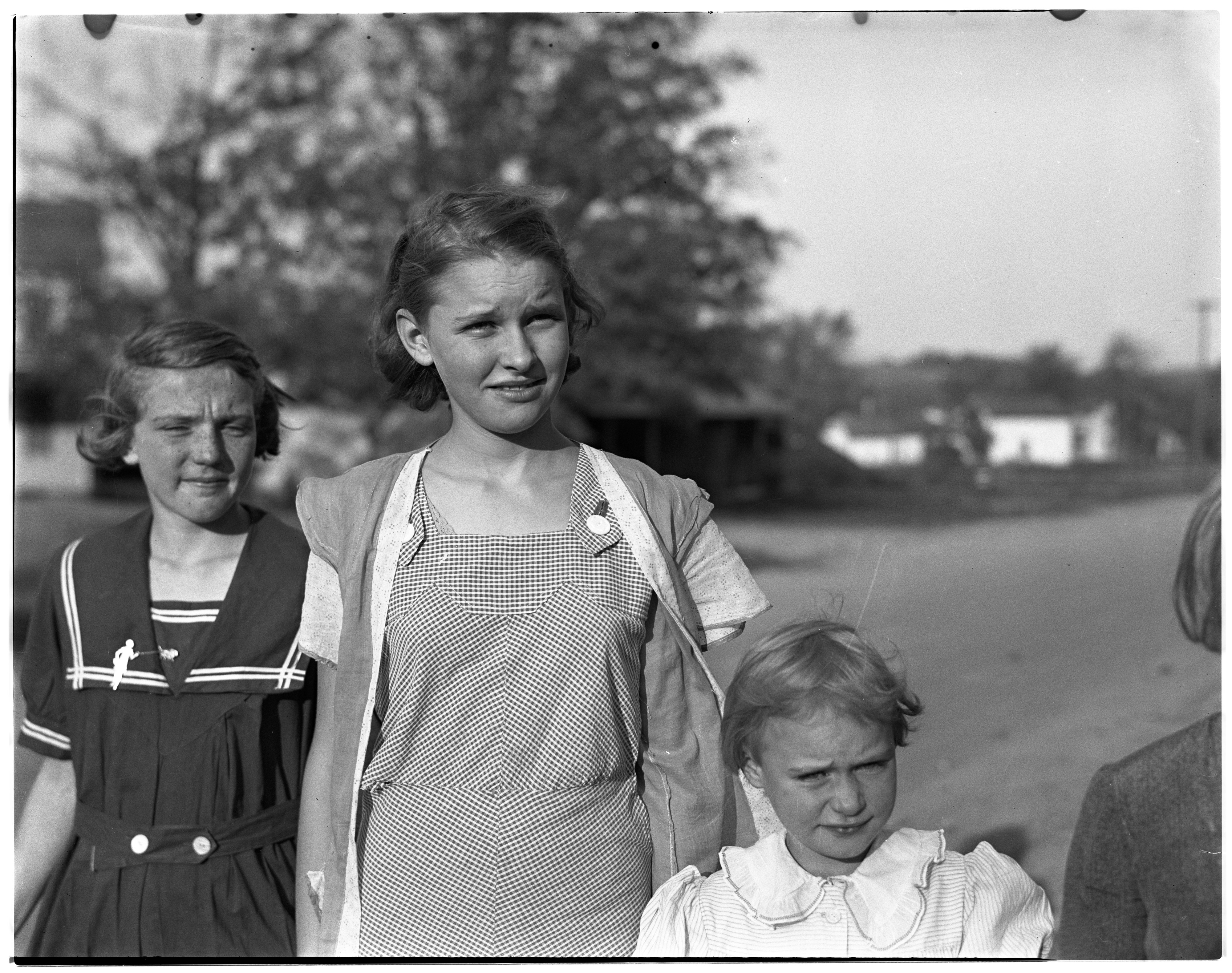 Girls in Dexter, Michigan, 1937 image