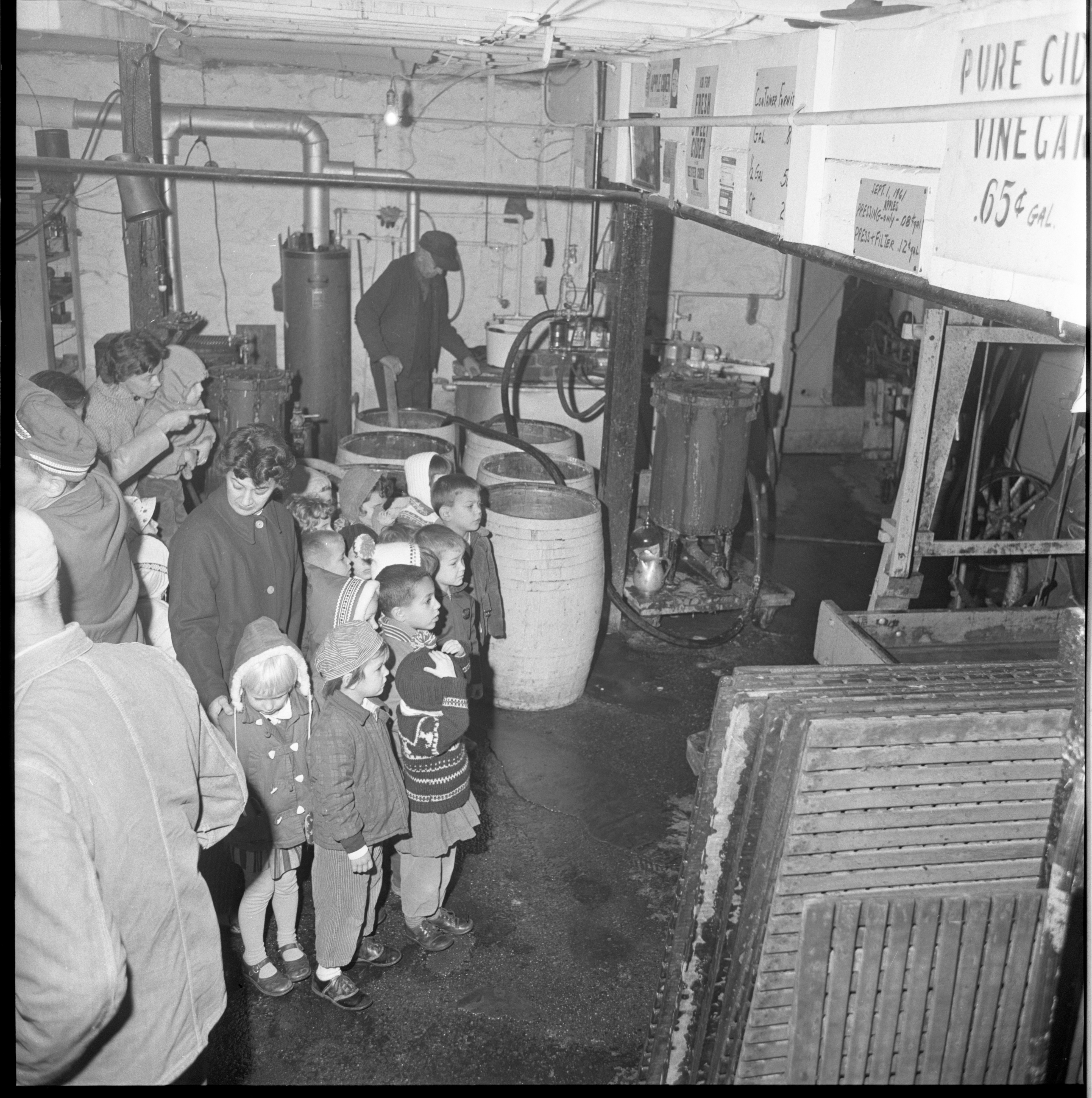 Unitarian Day Nursery Children Visit Wagner Cider Mill November 1961
