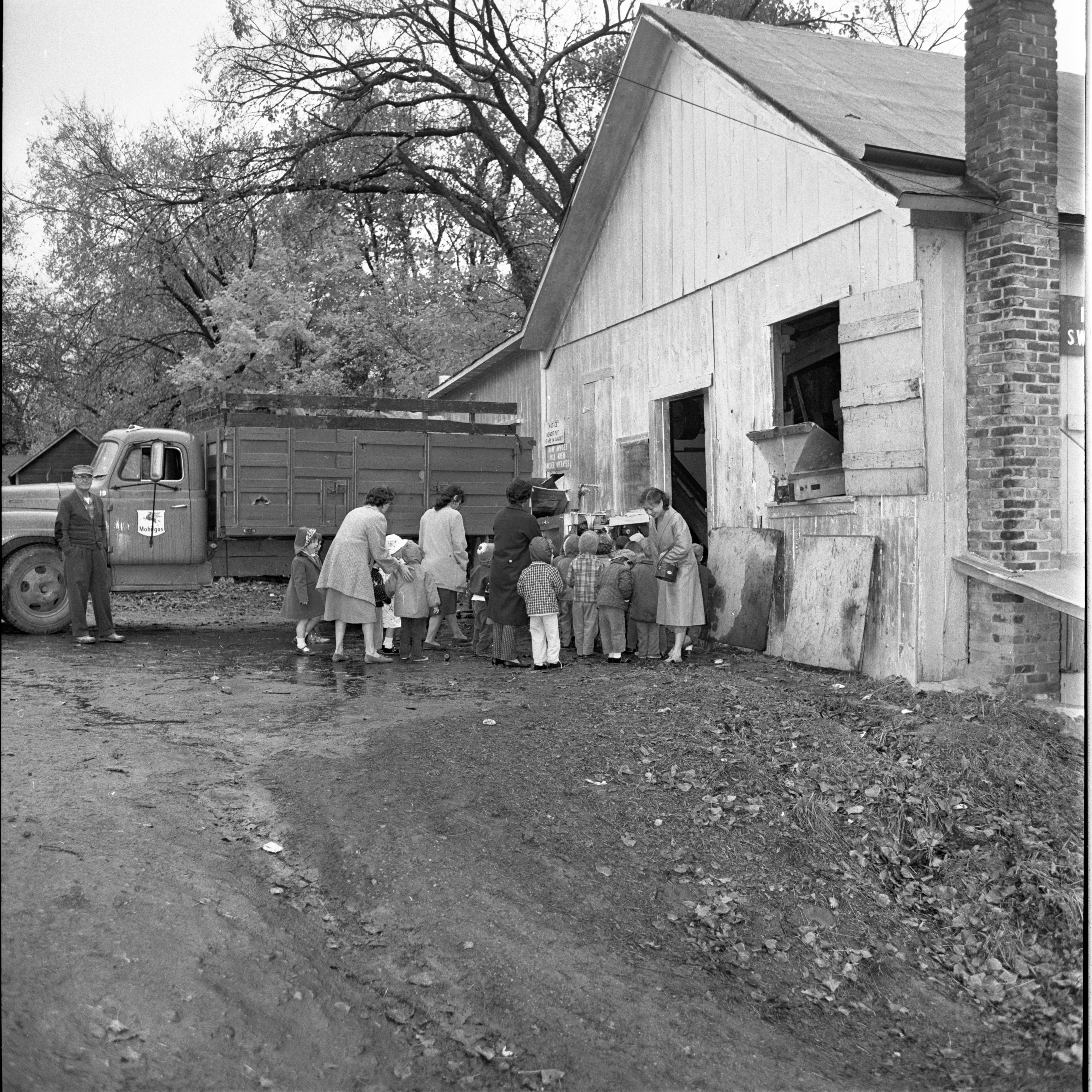 Unitarian Day Nursery Children Visit Wagner Cider Mill, November 1961 image