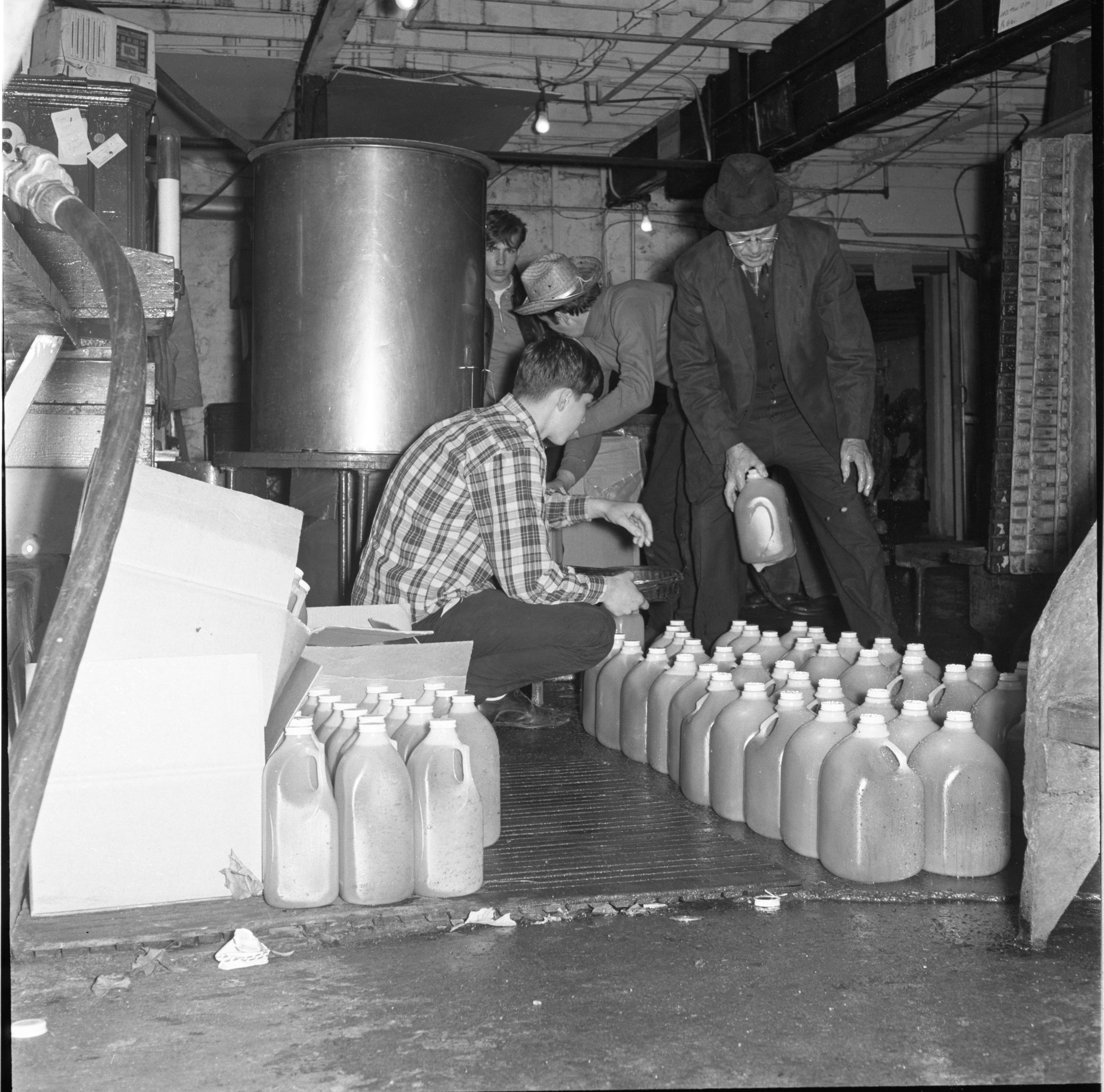 Jugs Of Freshly Bottled Cider At The Dexter Cider Mill, November 1966 image