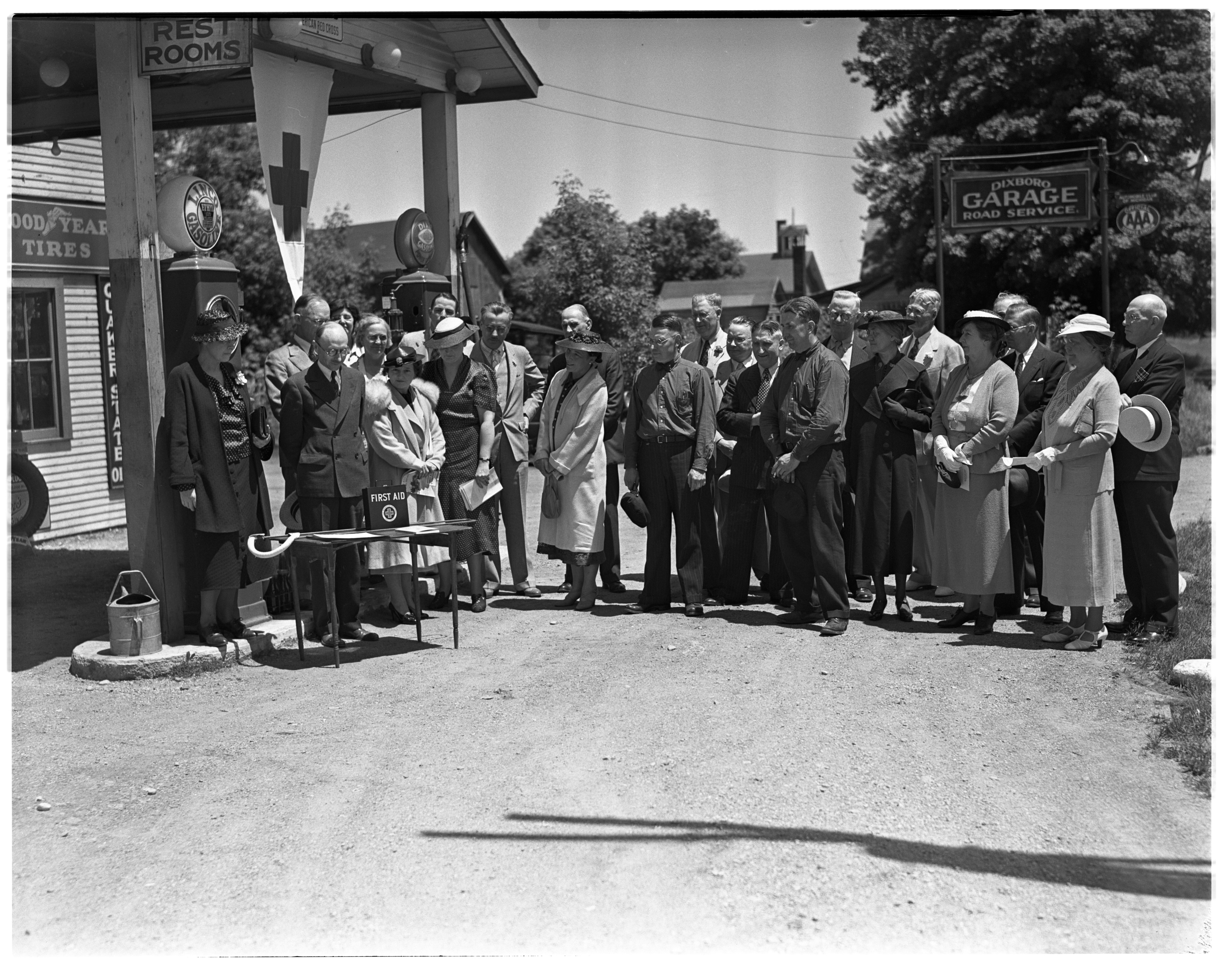 Dedication of a First Aid Station In Dixboro image