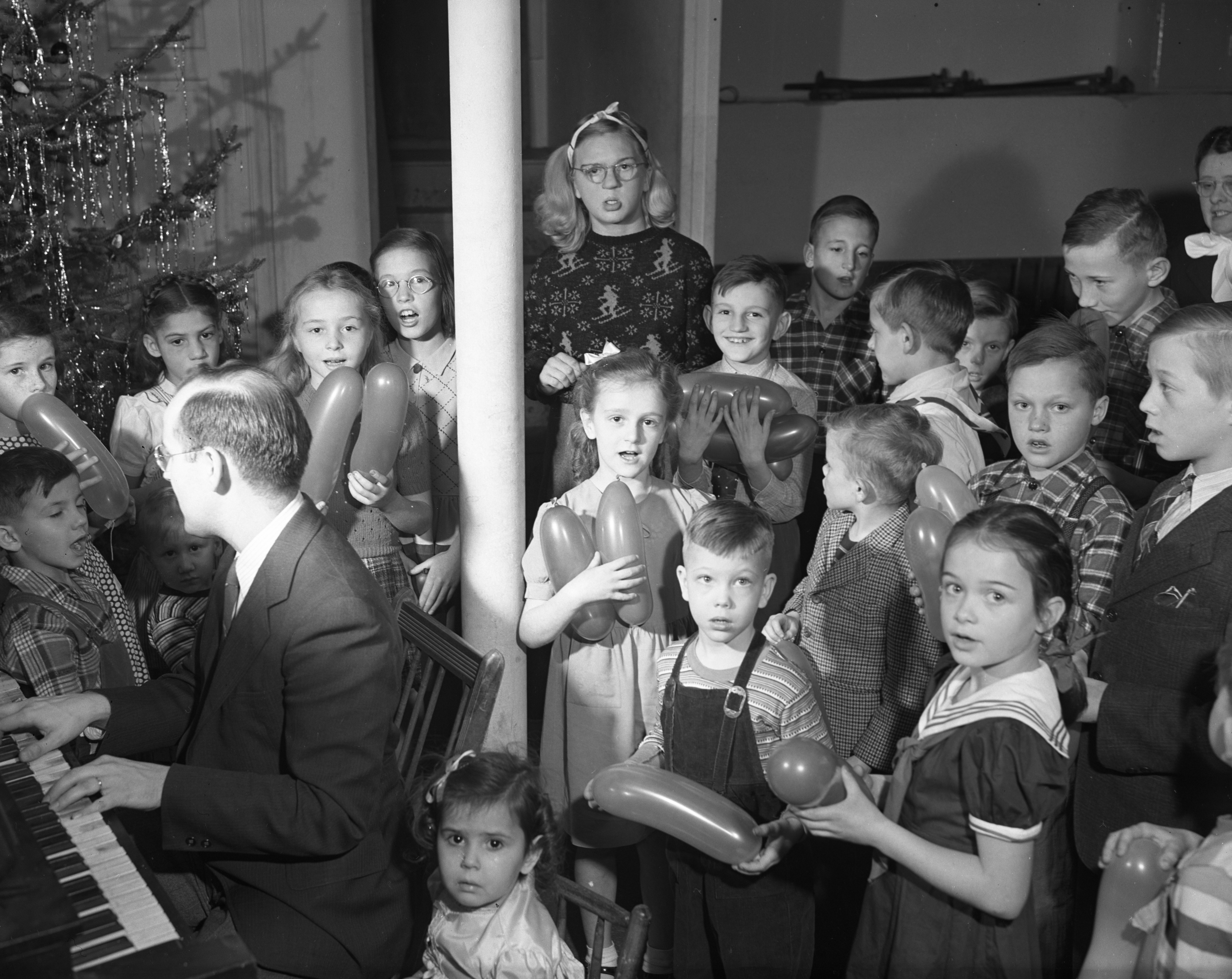 Dixboro Church Christmas Party for wards of the Michigan Children's Aid Society, December 1947 image
