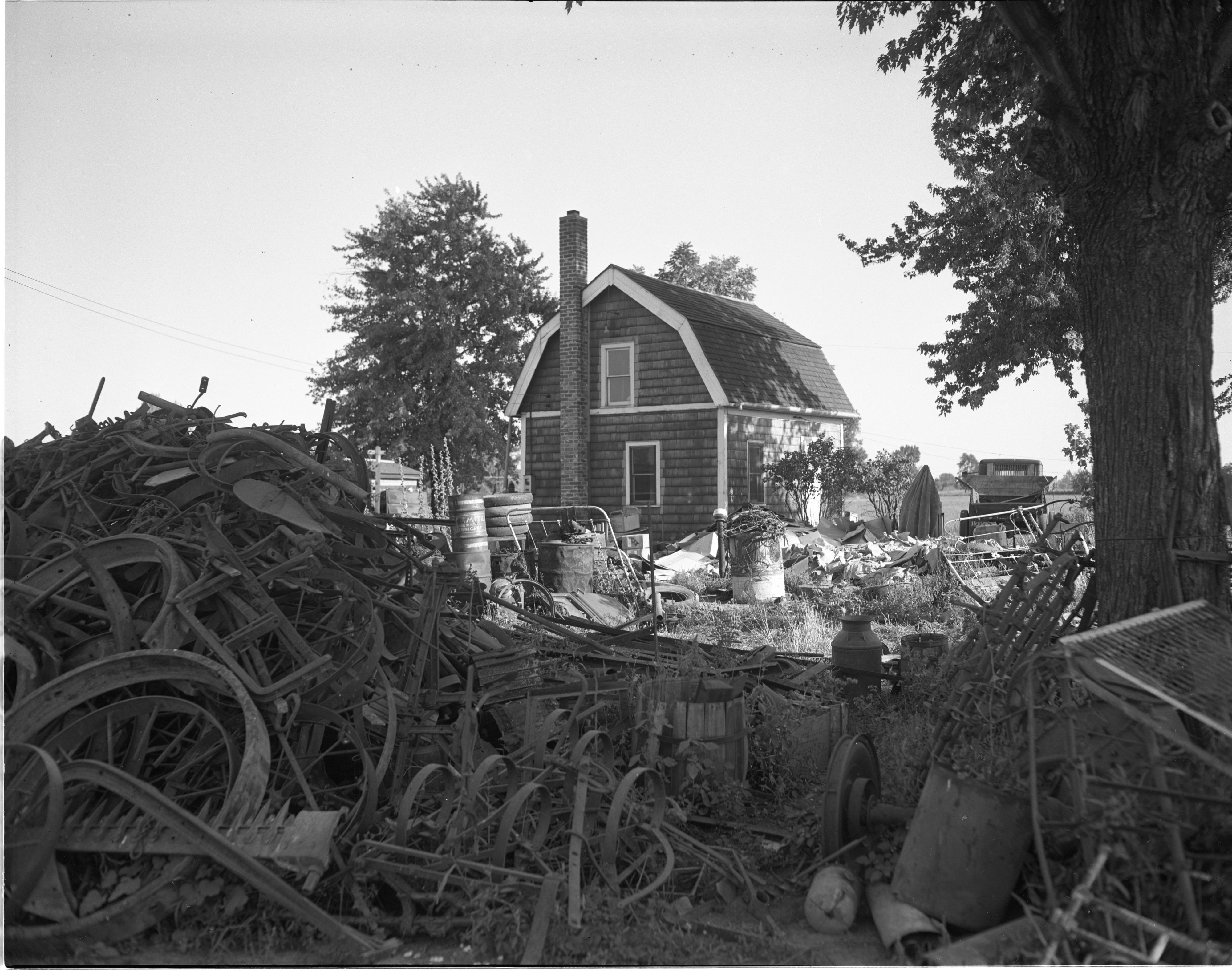 Murder Scene: Home Of Floyd J. Amos - Milan Junk Dealer, September 1946 image