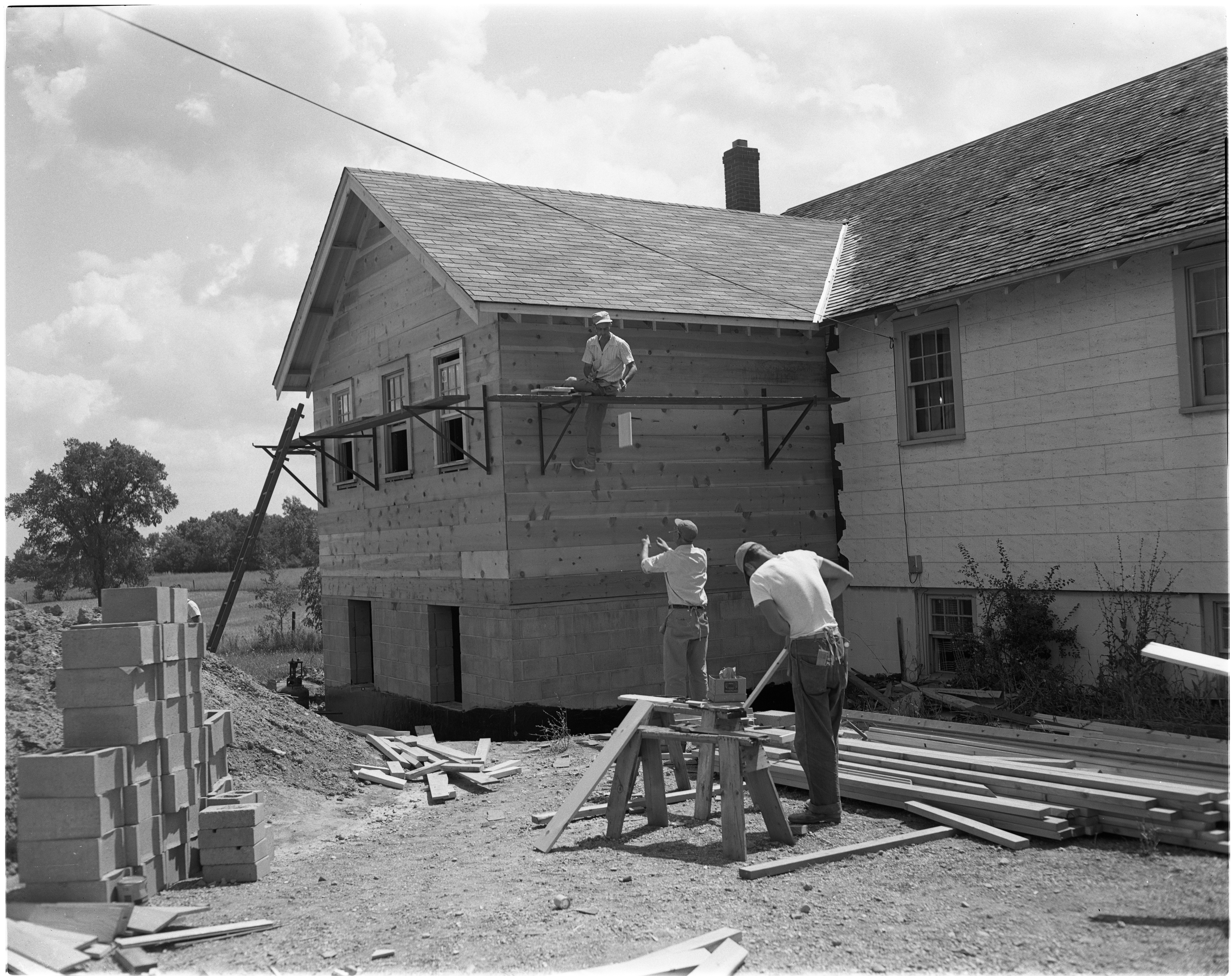 Addition to Pittsfield Grange Hall, August 1954 image