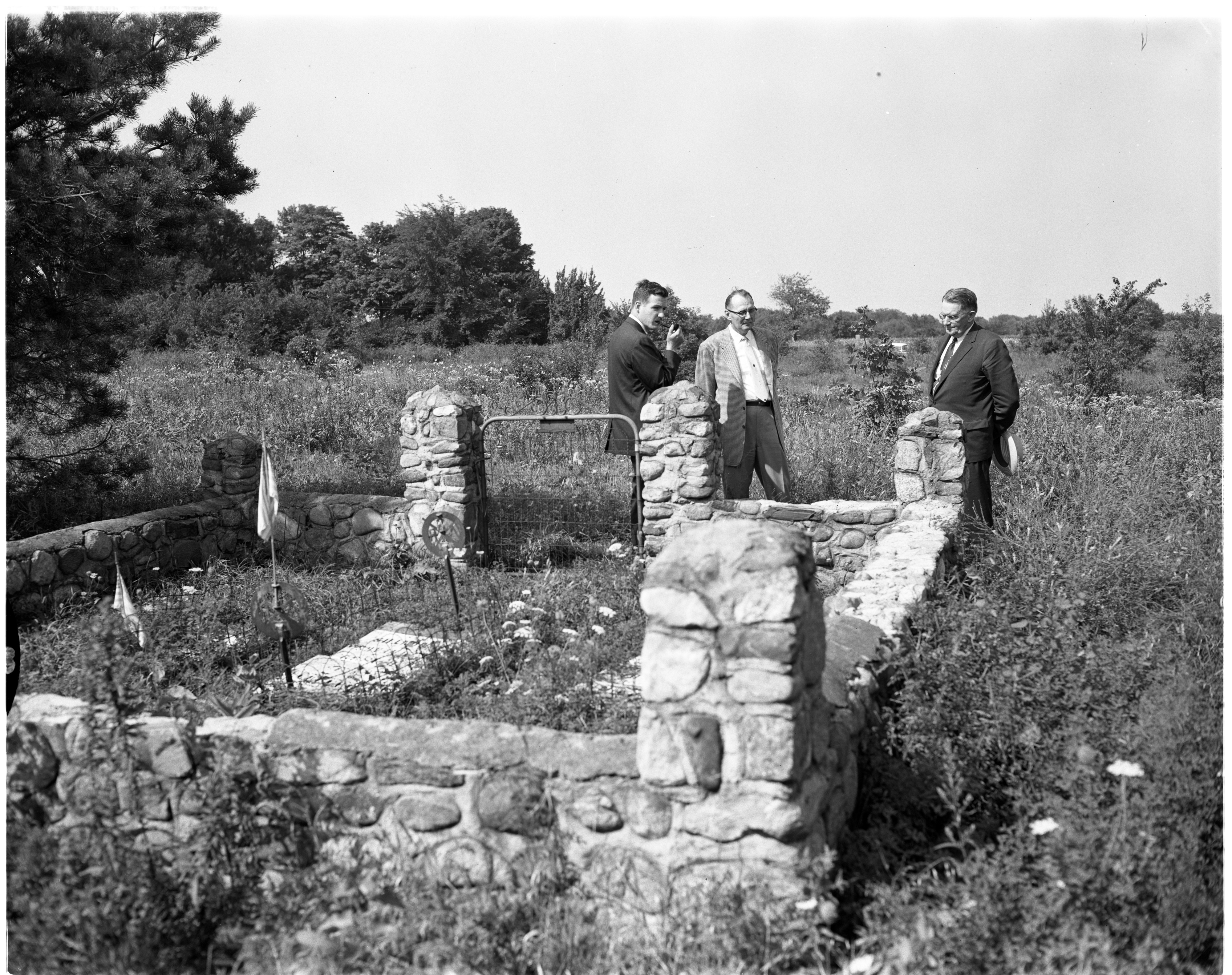 Inspecting Historical Cemetery, August 1956 image
