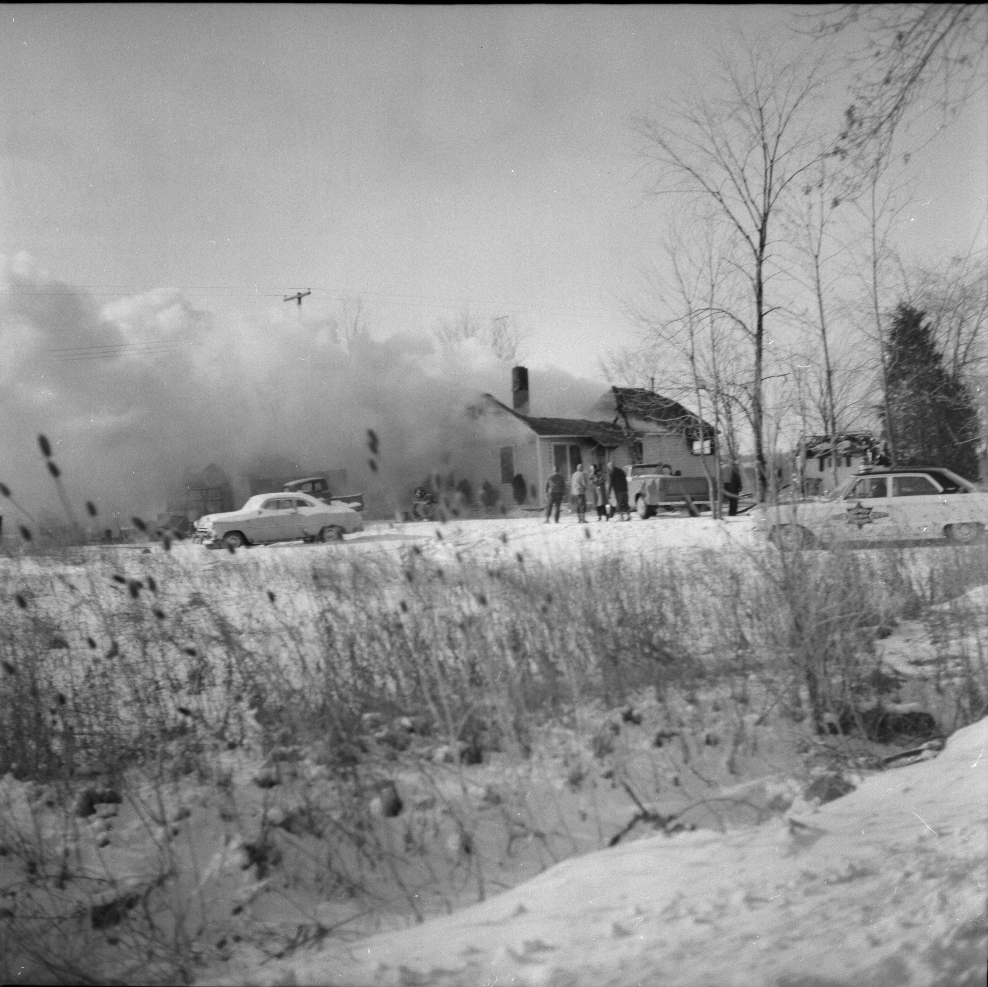 View of Fire at Home on Ellsworth Rd, February 1965 image