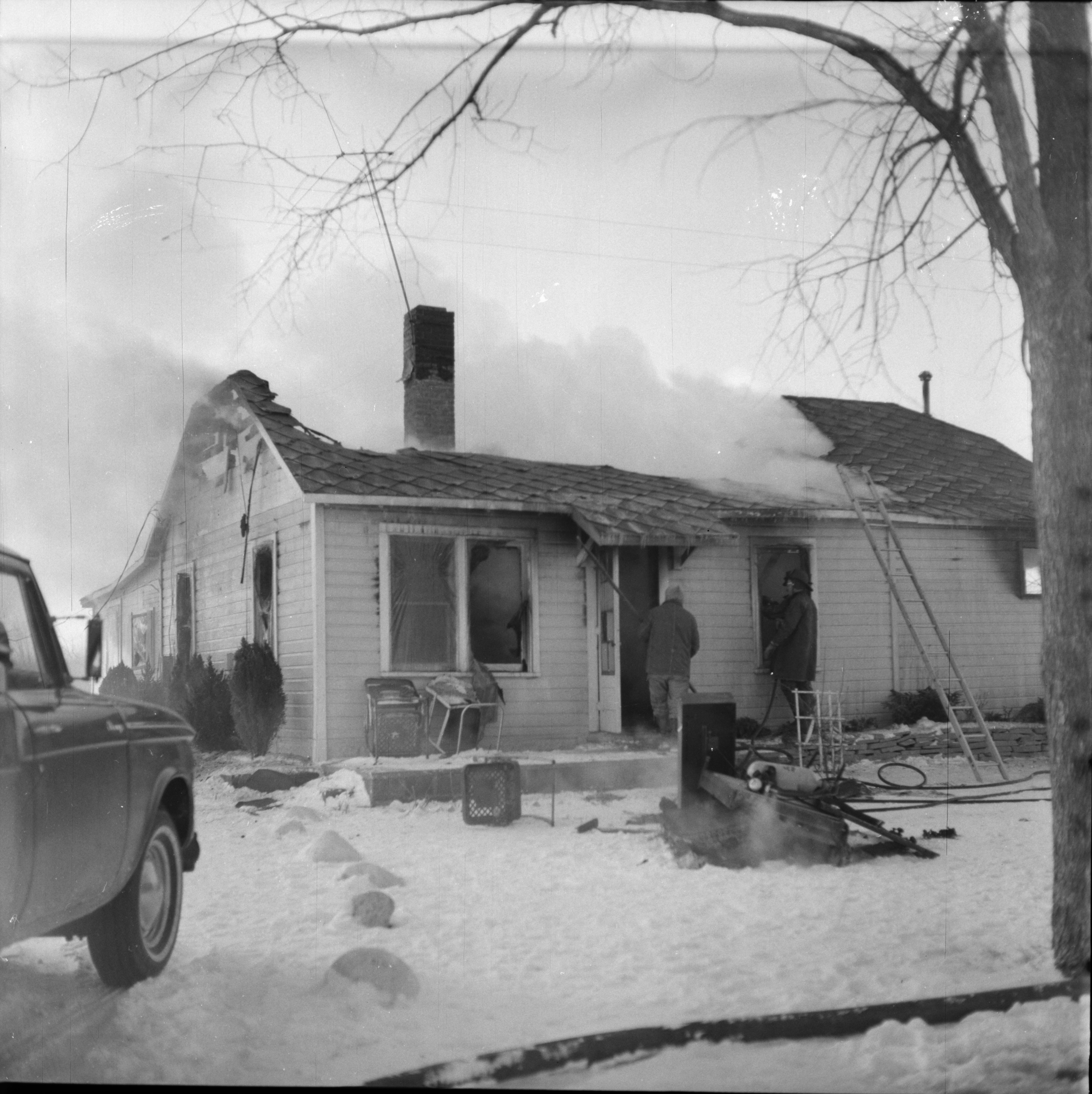 Fire Destroys Home on Ellsworth Rd, February 1965 image