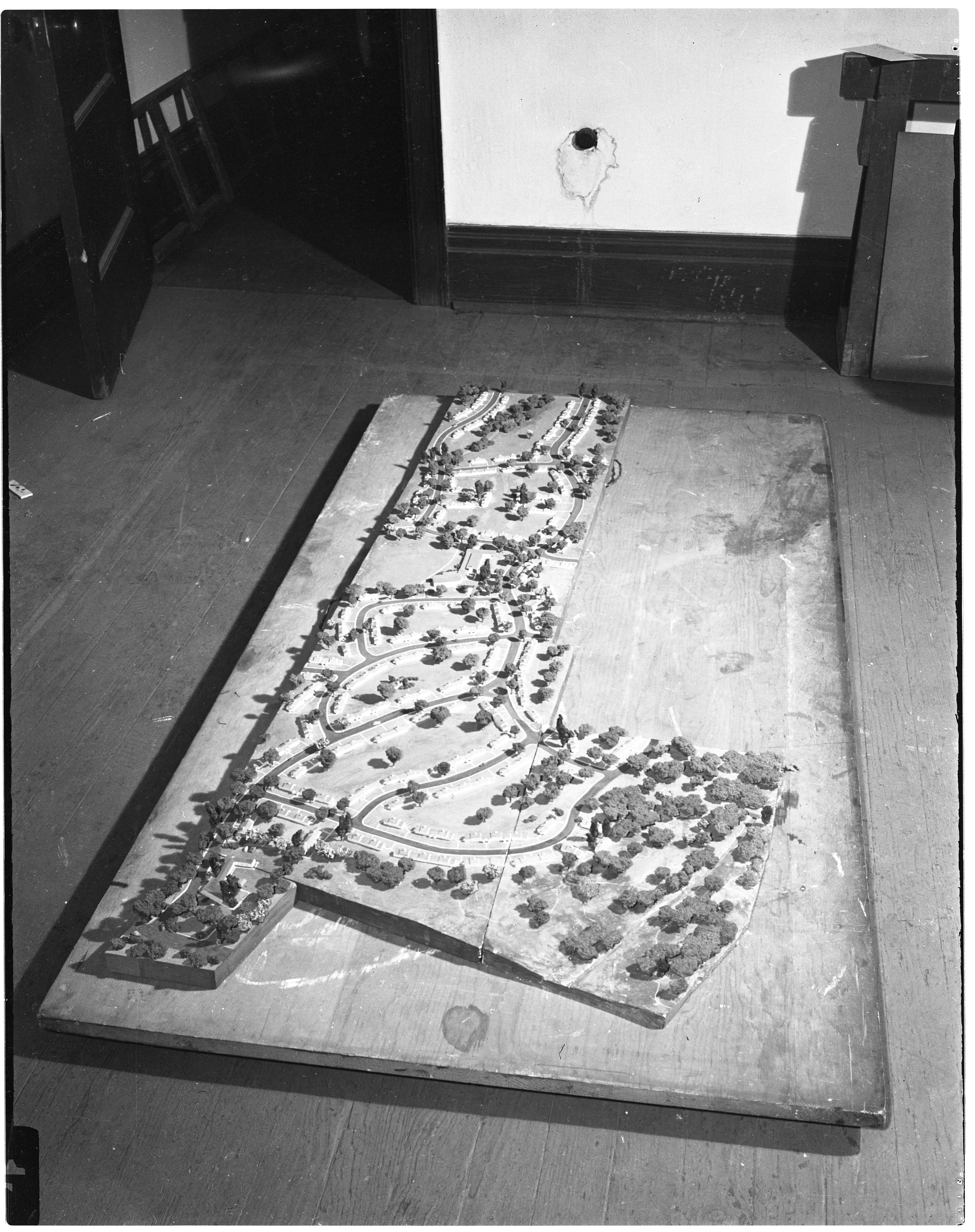 Birds-eye View of Model of Pittsfield Village, September 1943 image