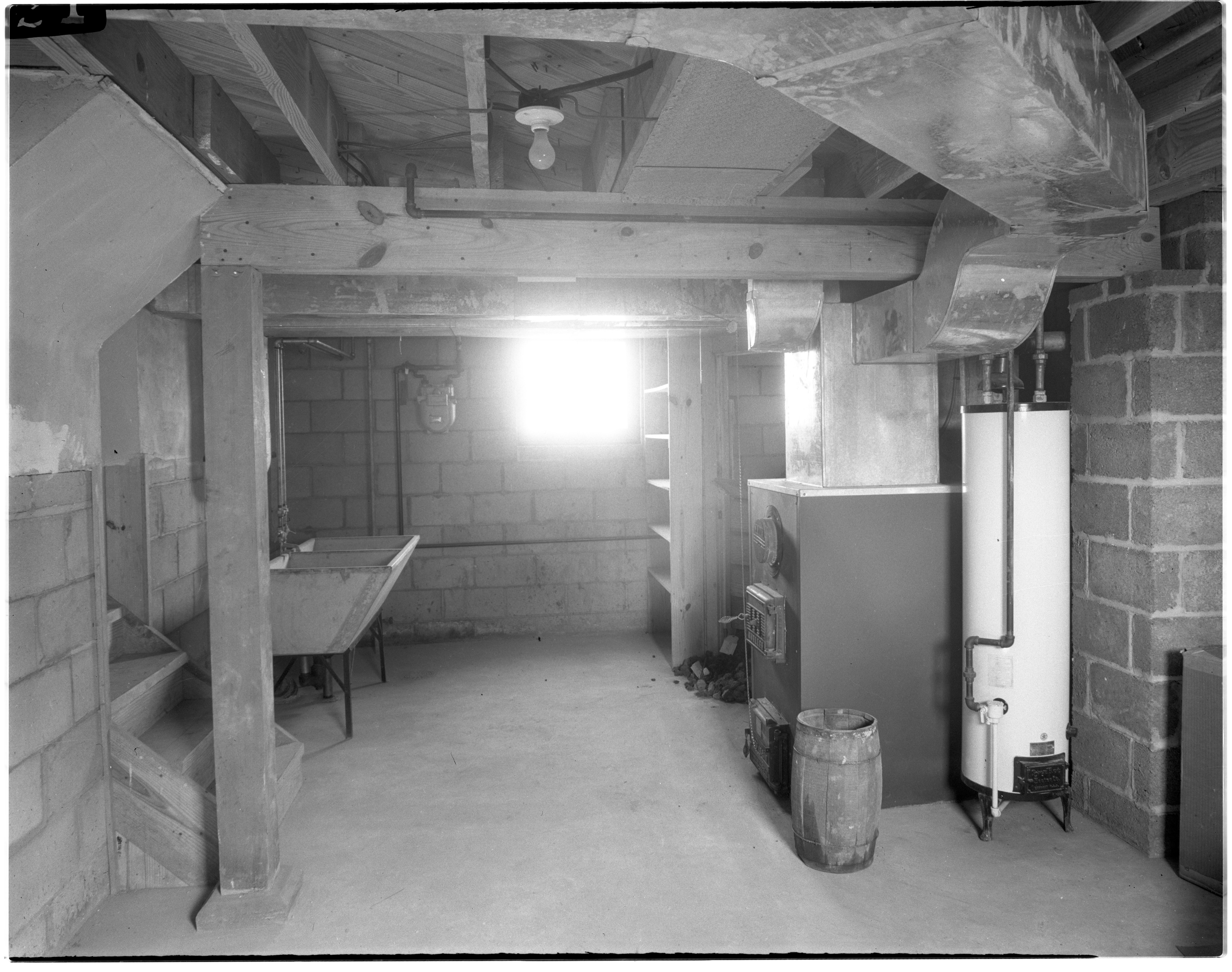 Basement of House in Pittsfield Village, October 1944 image