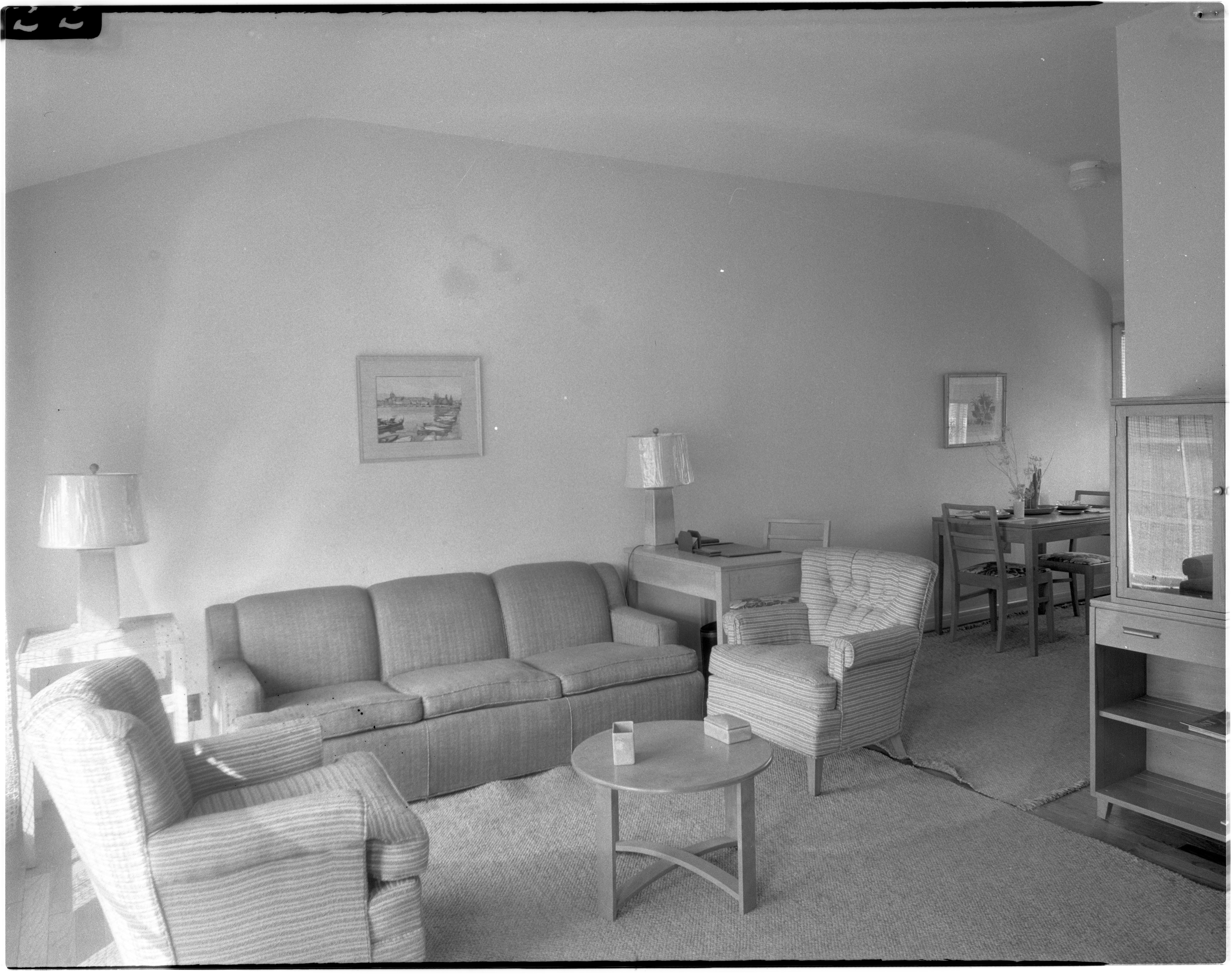 Interior View of a Home in Pittsfield Village, October 1944 image