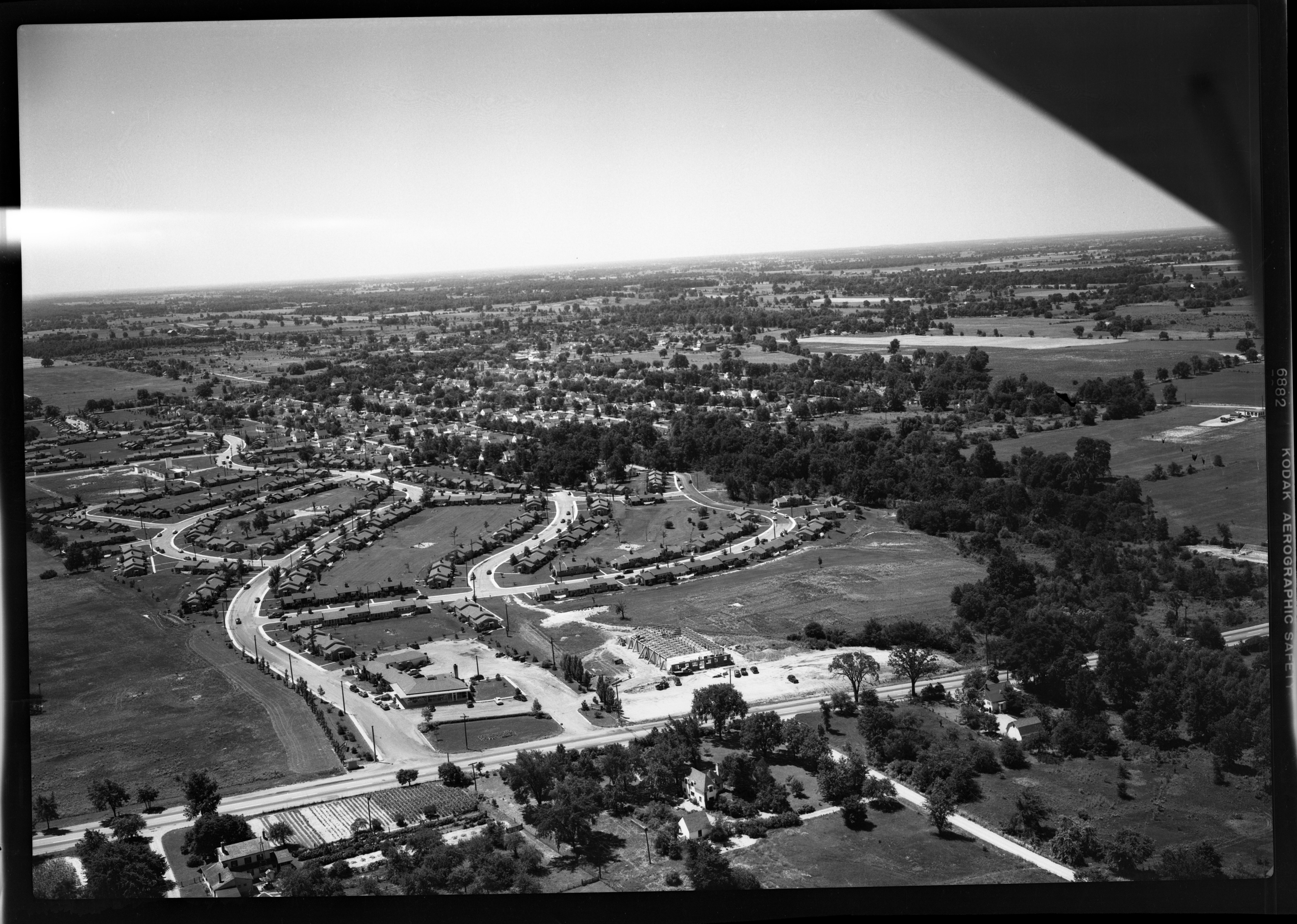 Pittsfield Village and East Ann Arbor, from air, July 1949 image