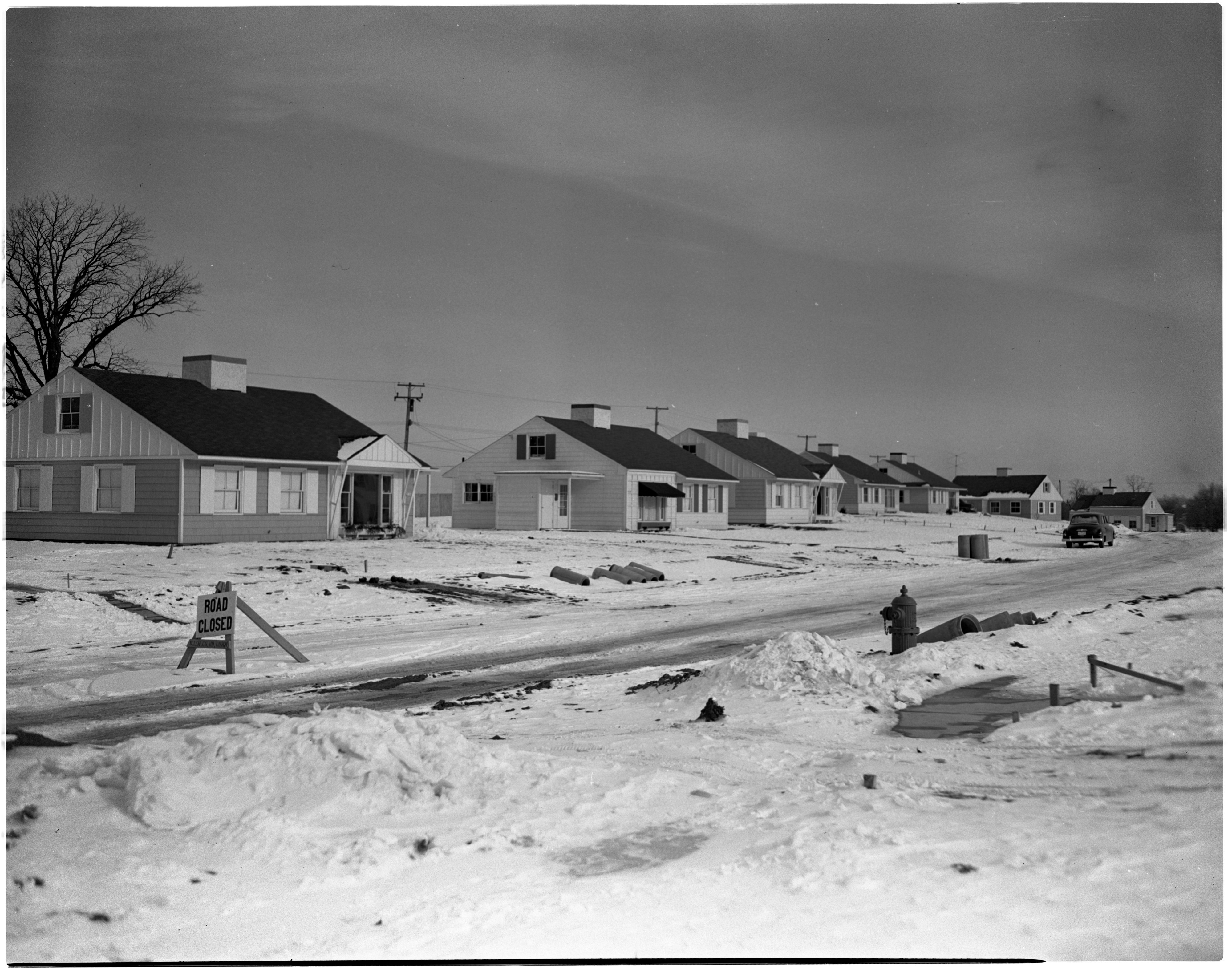 View of Pittsfield Park, New Street in Pittsfield Village, December 1950 image