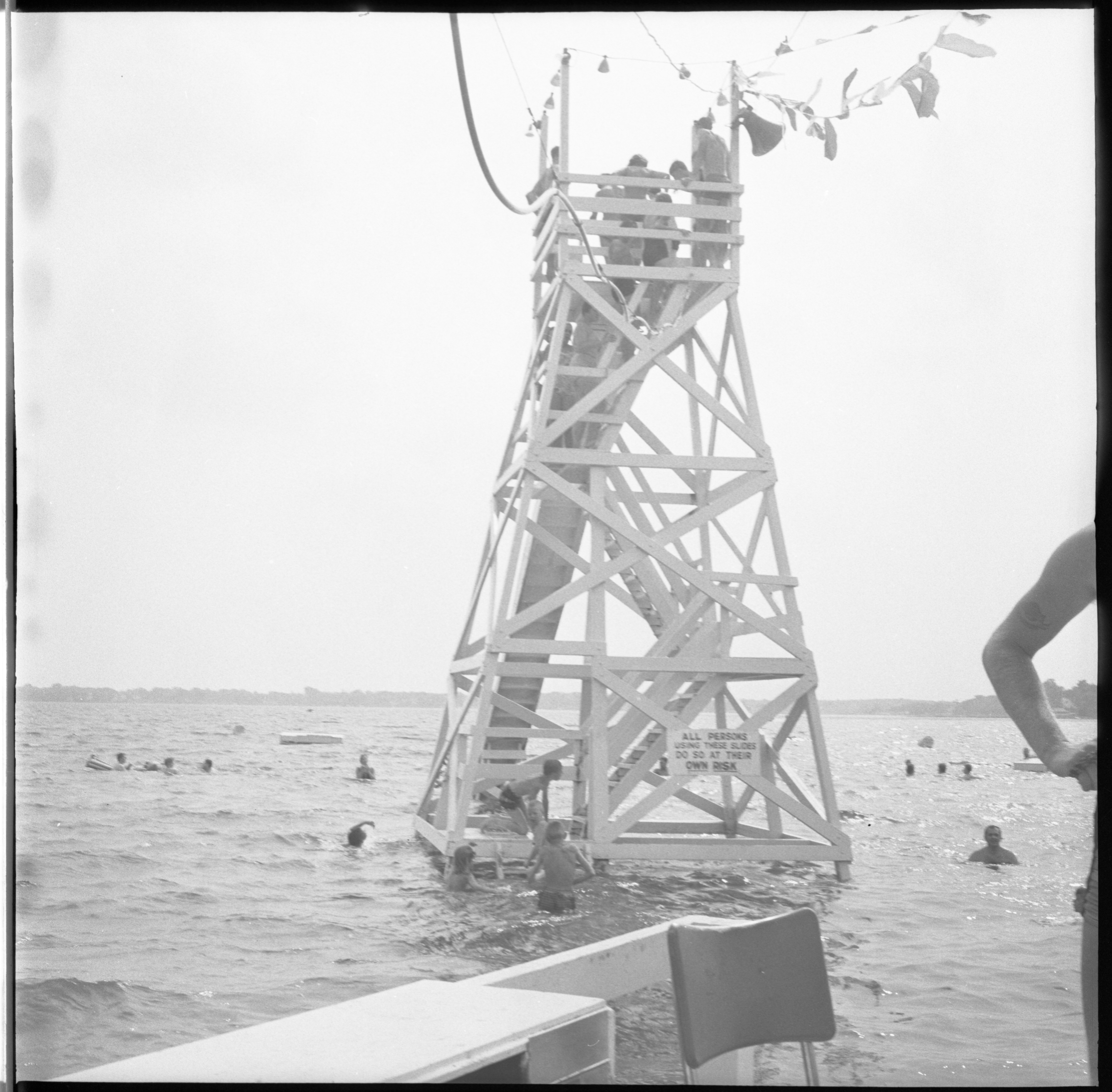 Groome's Beach Water Slide - Whitmore Lake, July 1963 image